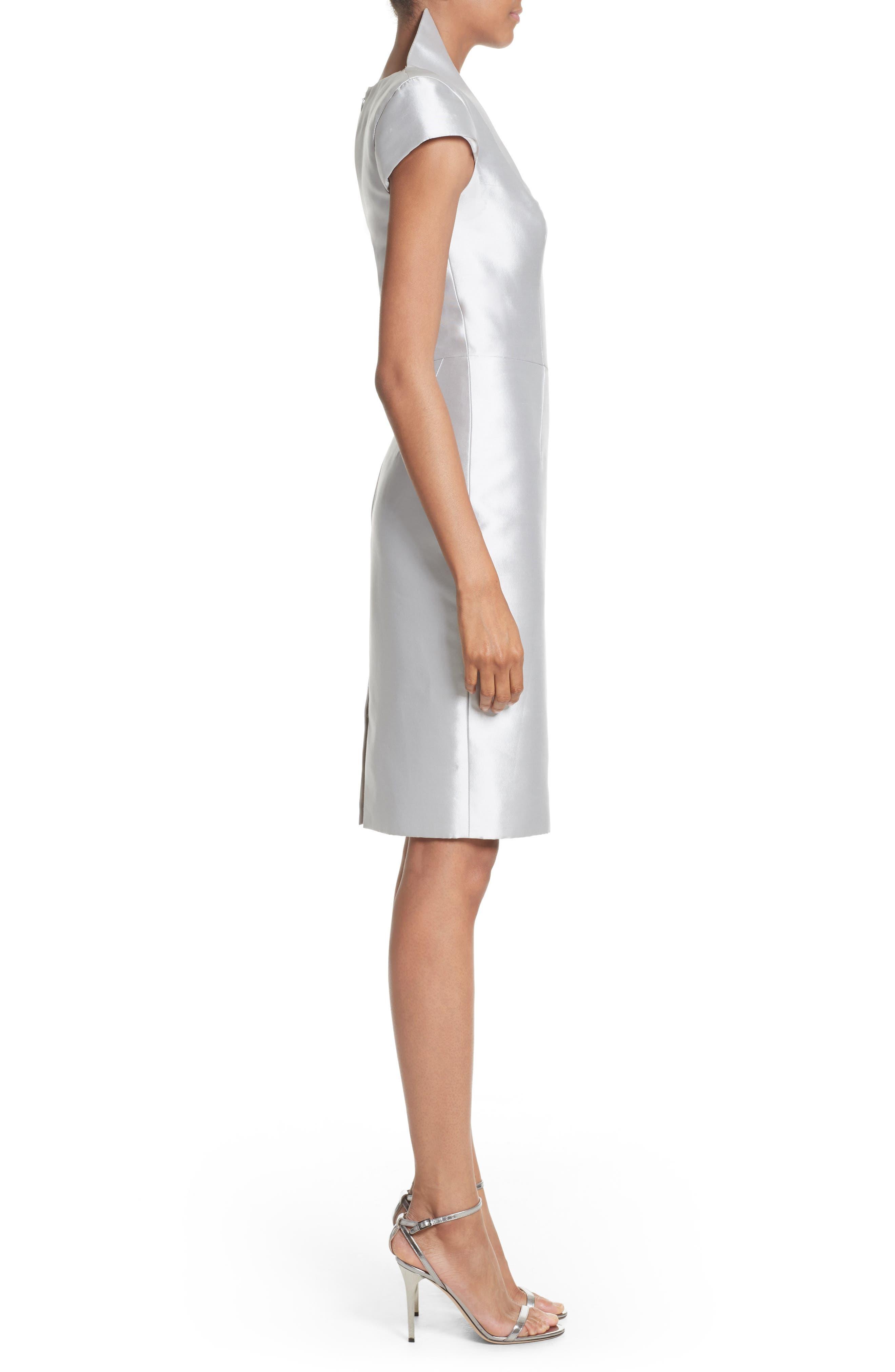Cap Sleeve Sheath Dress,                             Alternate thumbnail 3, color,                             040