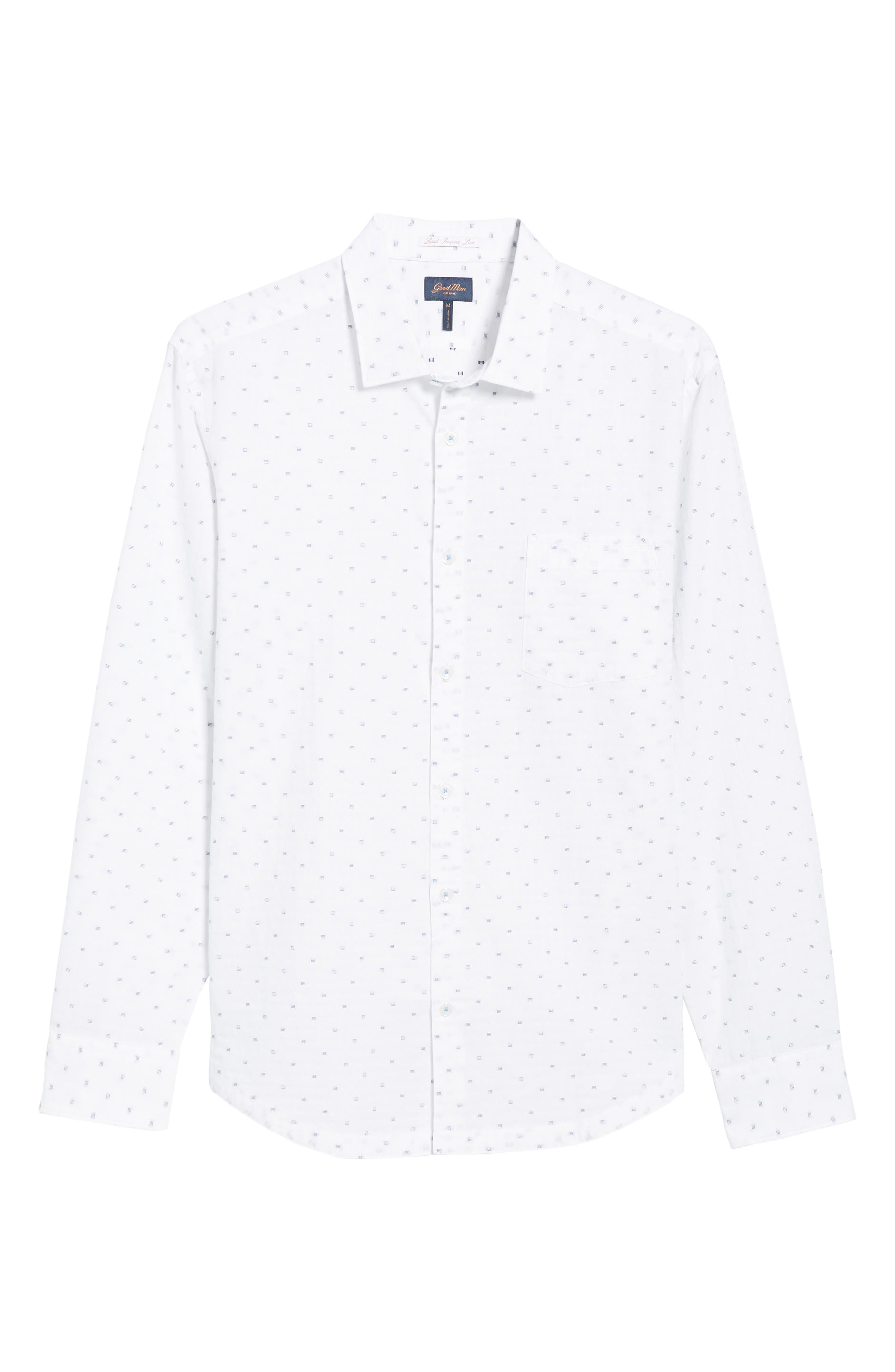 Trim Fit Geometric Sport Shirt,                             Alternate thumbnail 6, color,                             100