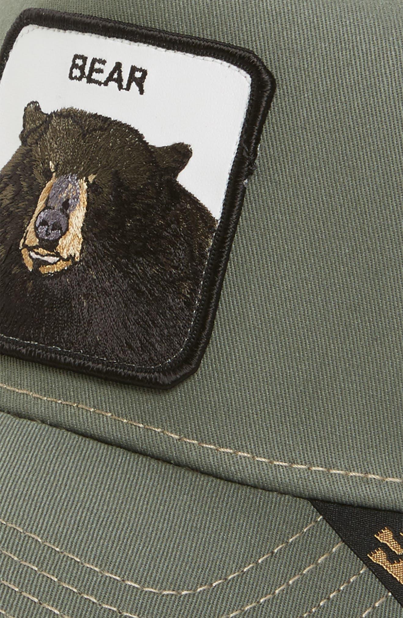 Drew Bear Trucker Hat,                             Alternate thumbnail 3, color,                             314