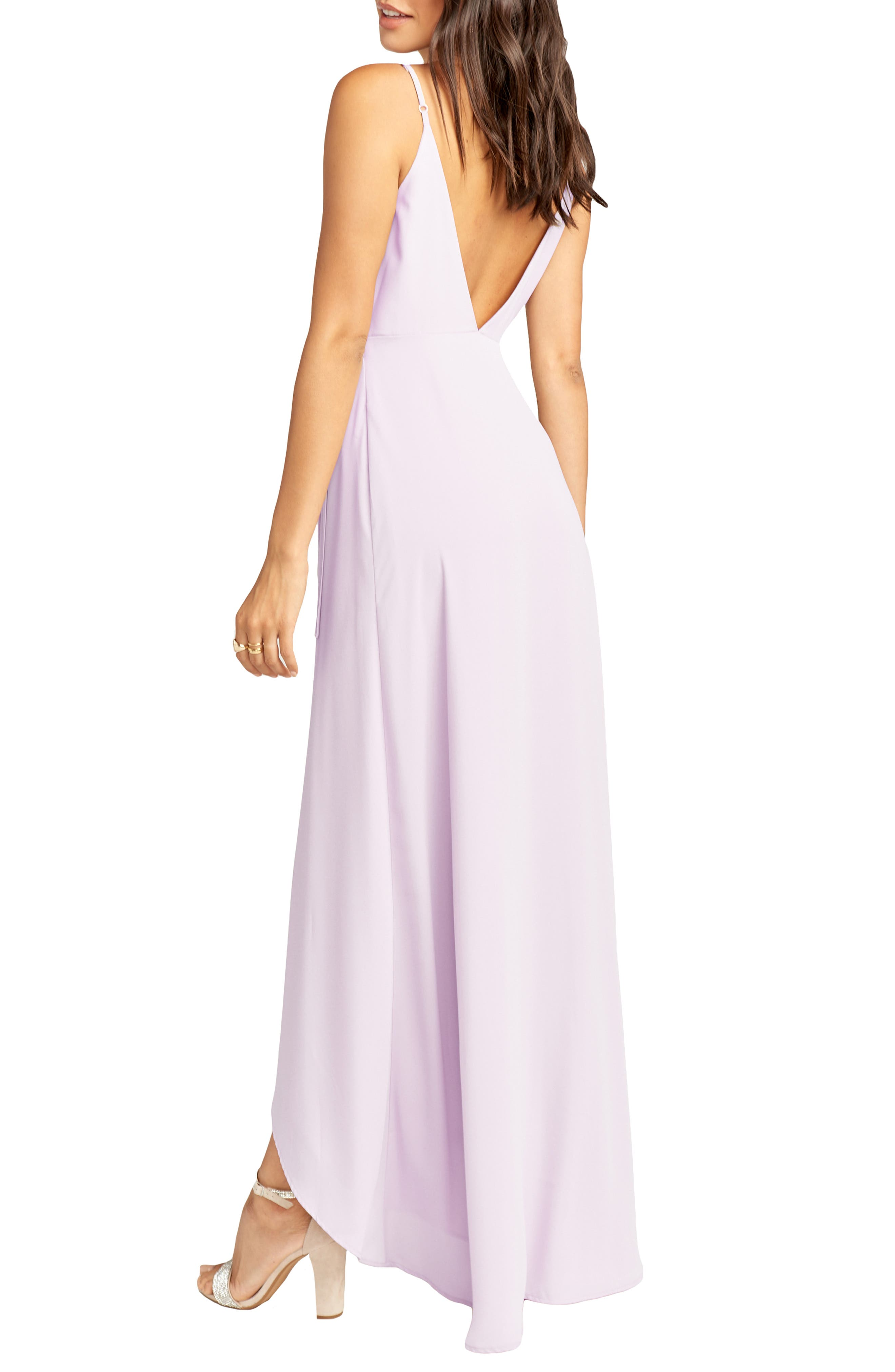 SHOW ME YOUR MUMU,                             Mariah Wrap Maxi Dress,                             Alternate thumbnail 2, color,                             VIOLET CHIFFON