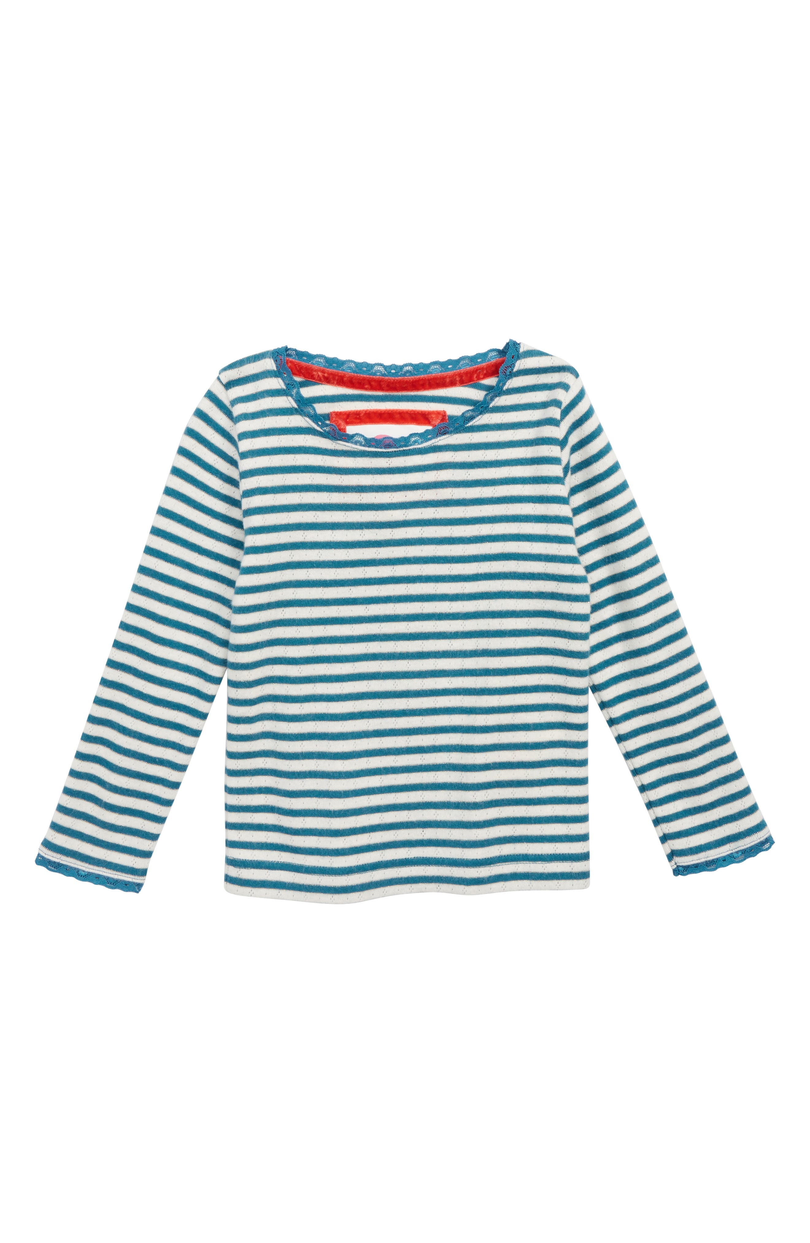 Sparkly Pointelle Tee,                             Main thumbnail 1, color,                             GREY MARL/ BLUE