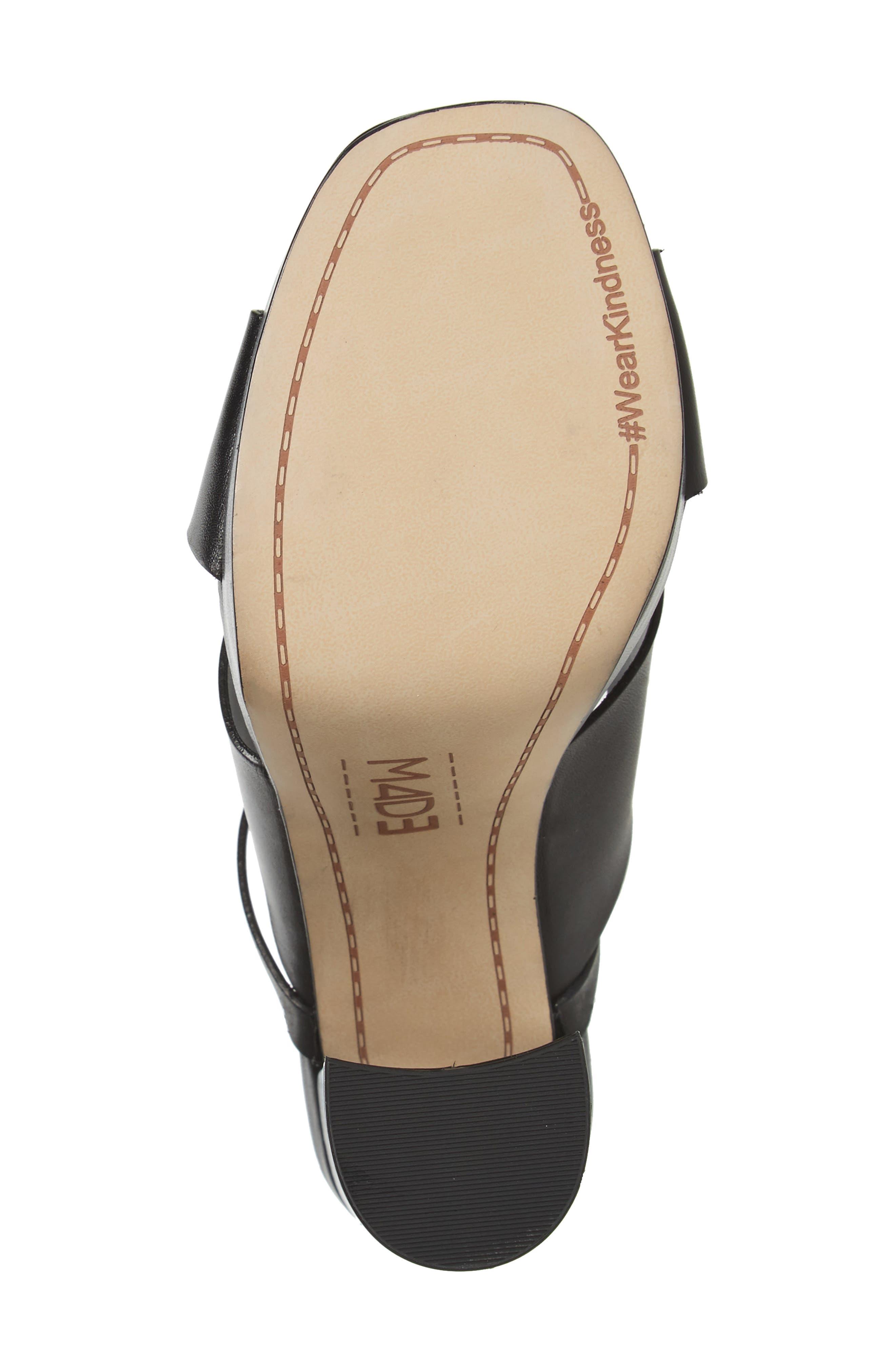 M4D3 Priscilla Wraparound Platform Sandal,                             Alternate thumbnail 4, color,                             BLACK