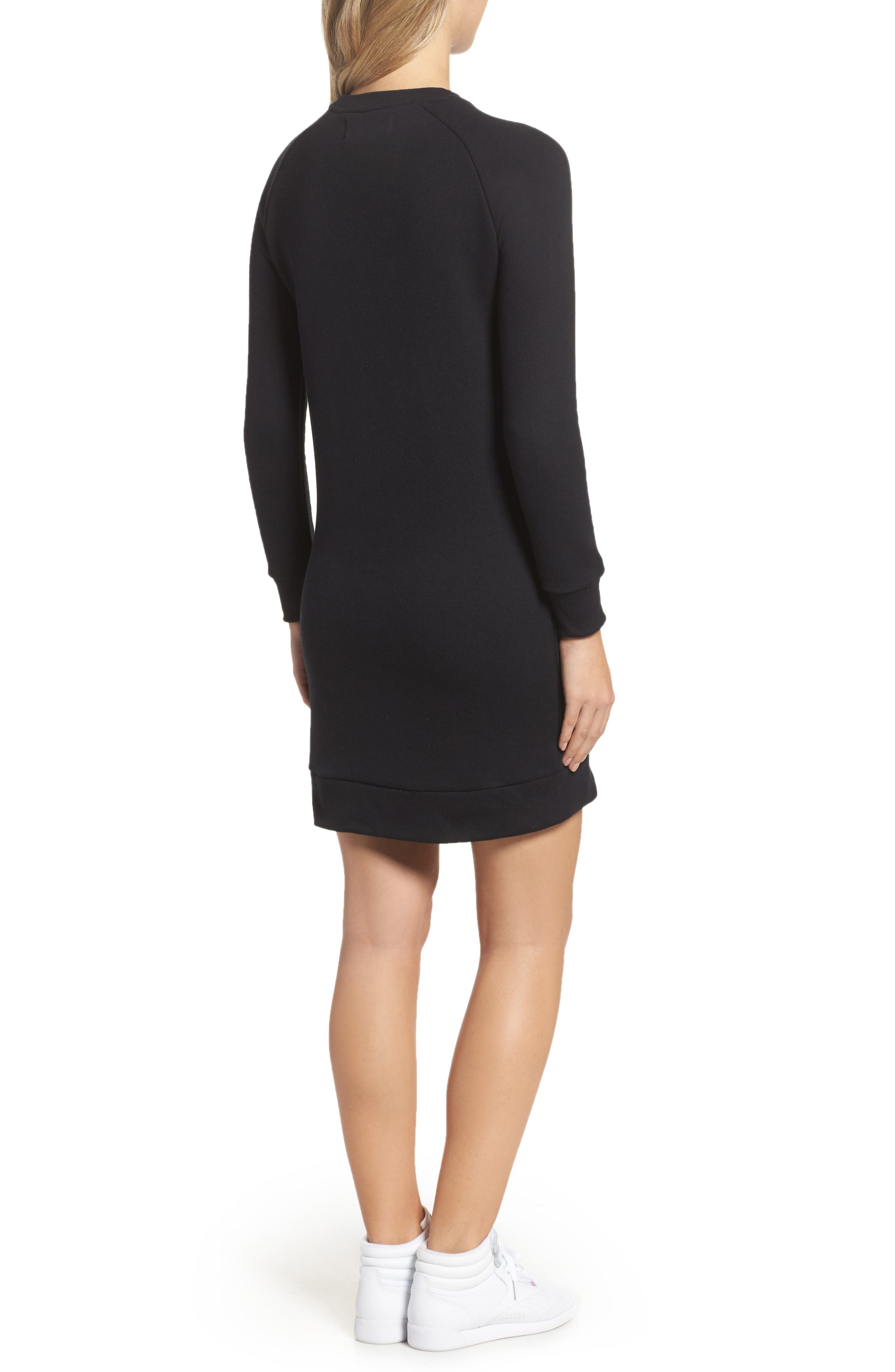 Courtney Sweatshirt Dress,                             Alternate thumbnail 2, color,                             001