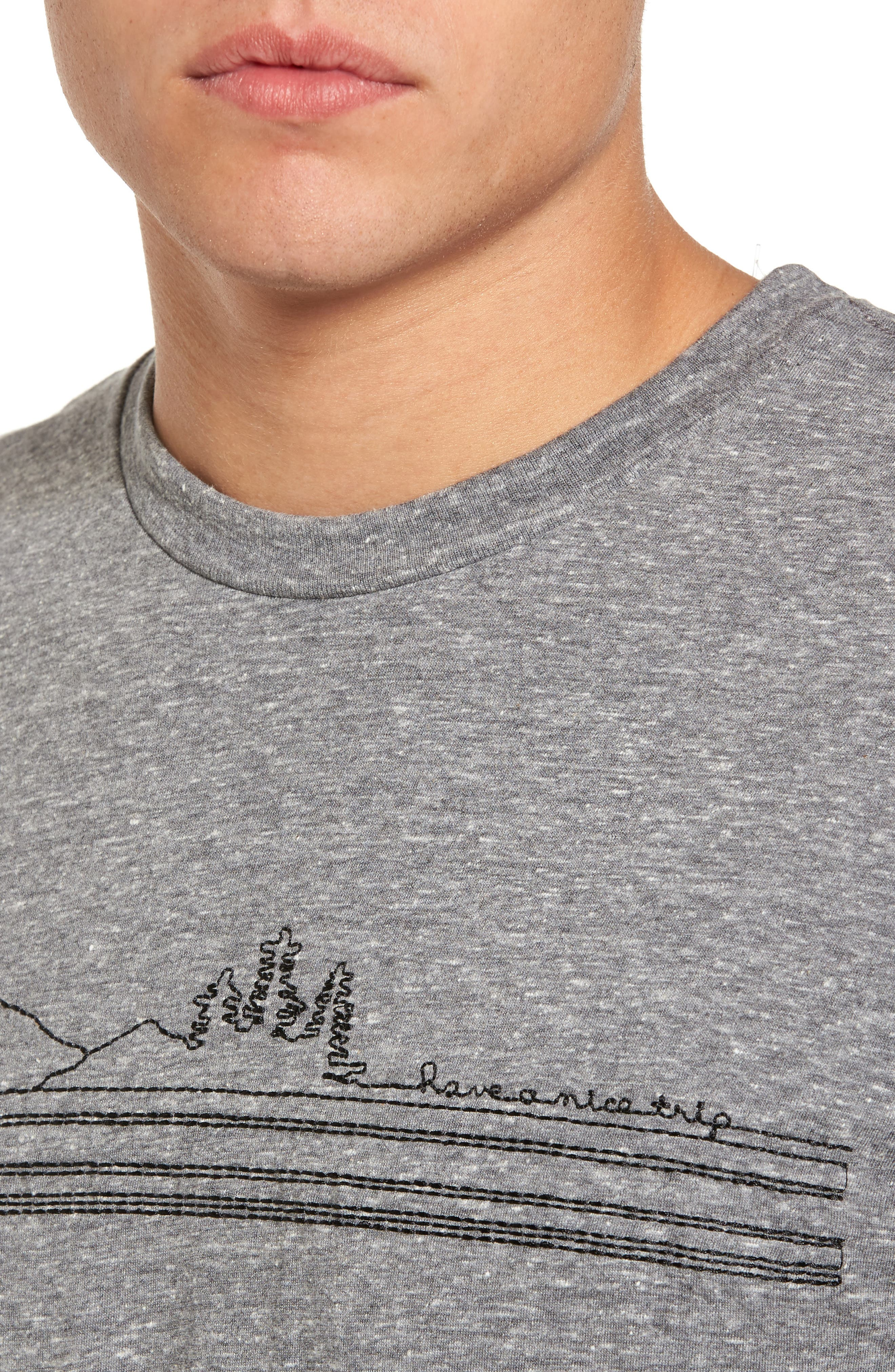 Have a Nice Trip Embroidered T-Shirt,                             Alternate thumbnail 4, color,