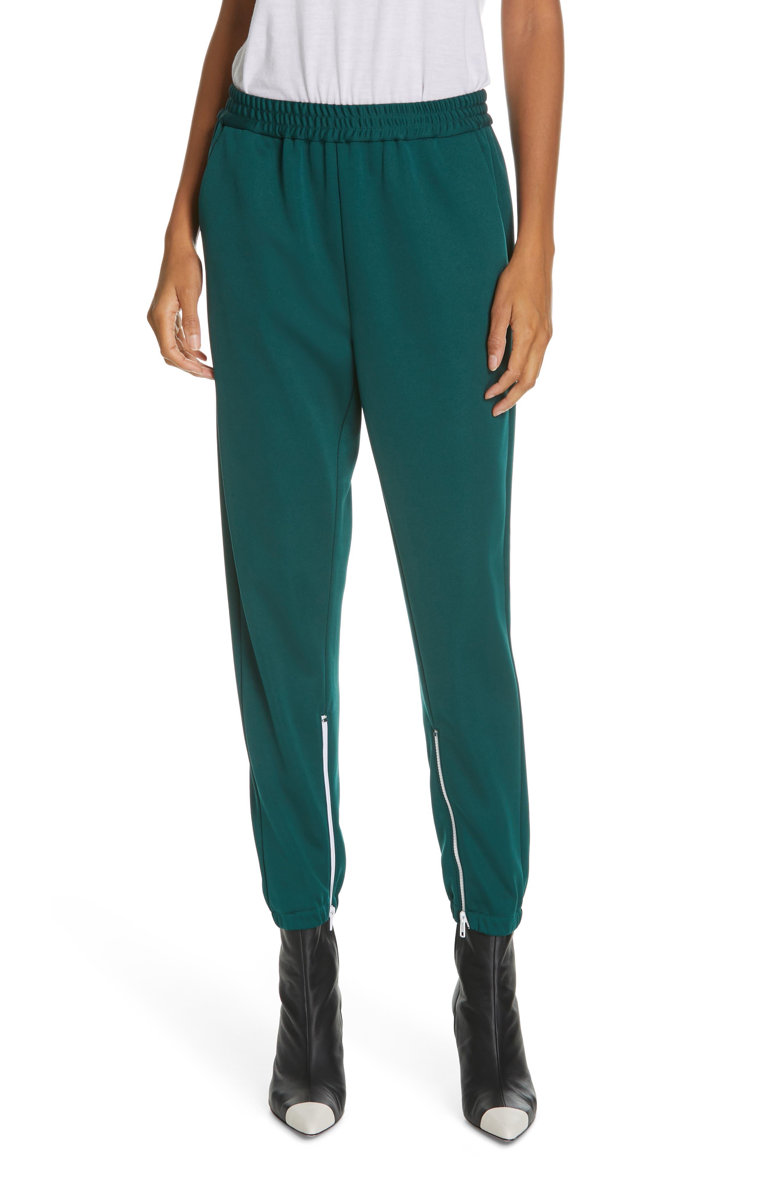 Zip Hem Joggers, Main, color, DARK GREEN