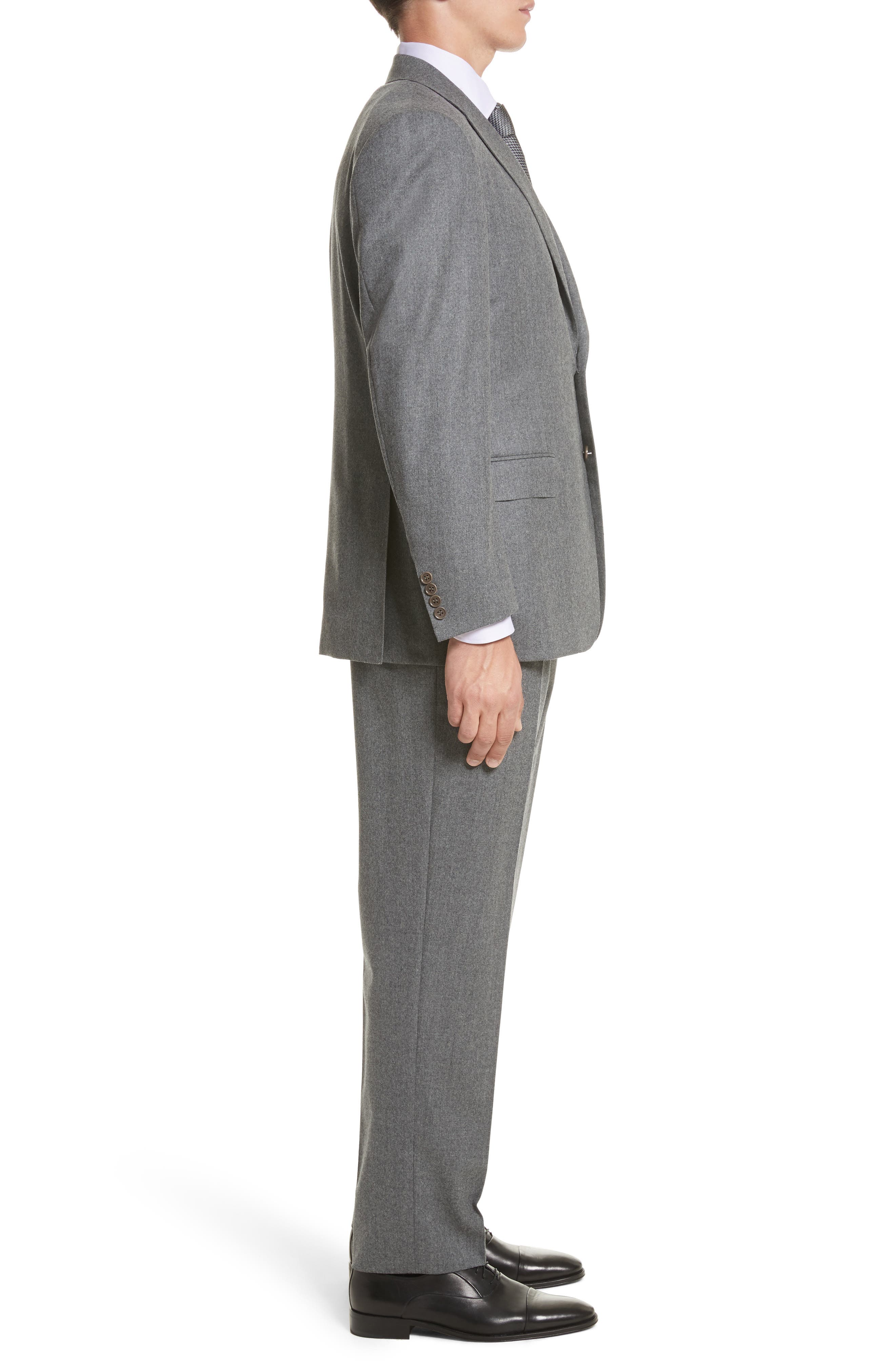 Classic Fit Solid Wool Suit,                             Alternate thumbnail 3, color,