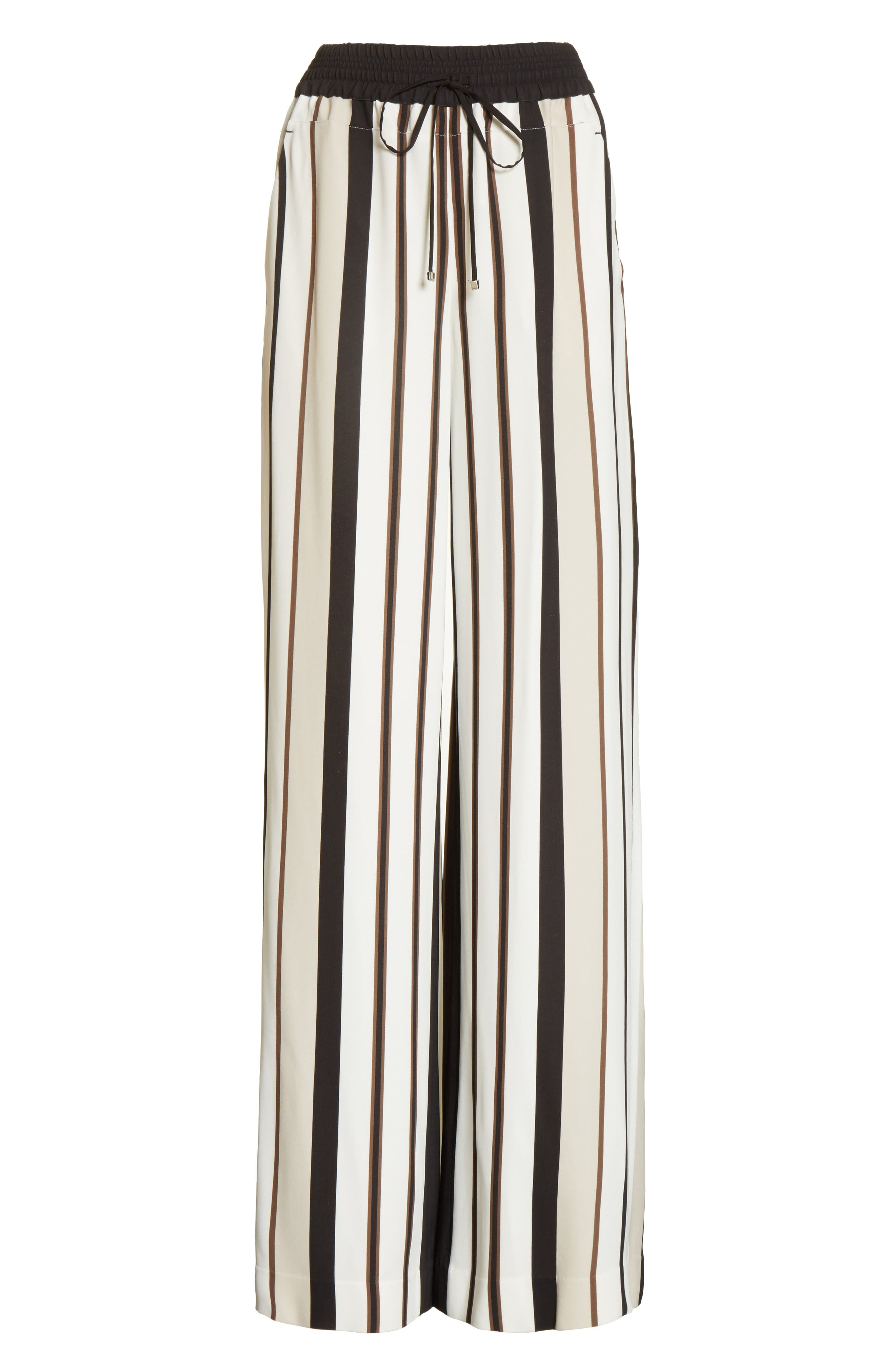 LAFAYETTE 148 NEW YORK,                             Allen Legacy Stripe Drape Cloth Pants,                             Alternate thumbnail 6, color,                             001