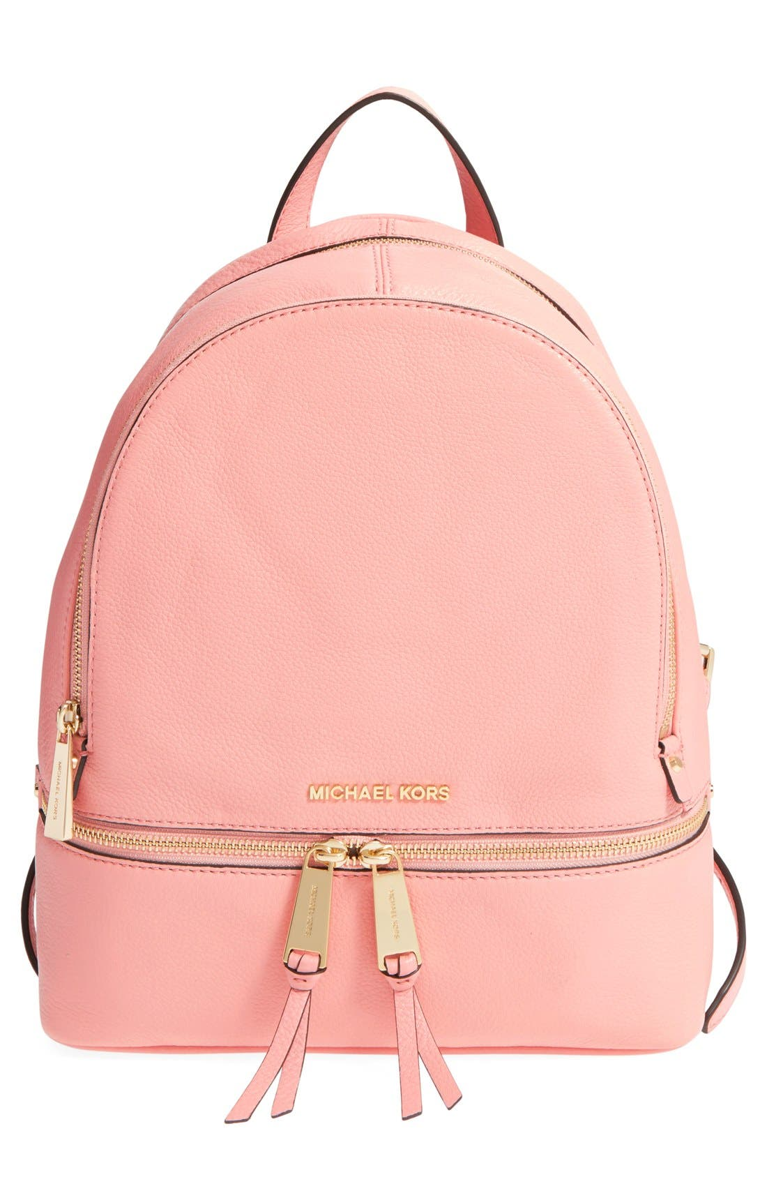 'Extra Small Rhea Zip' Leather Backpack,                             Main thumbnail 9, color,