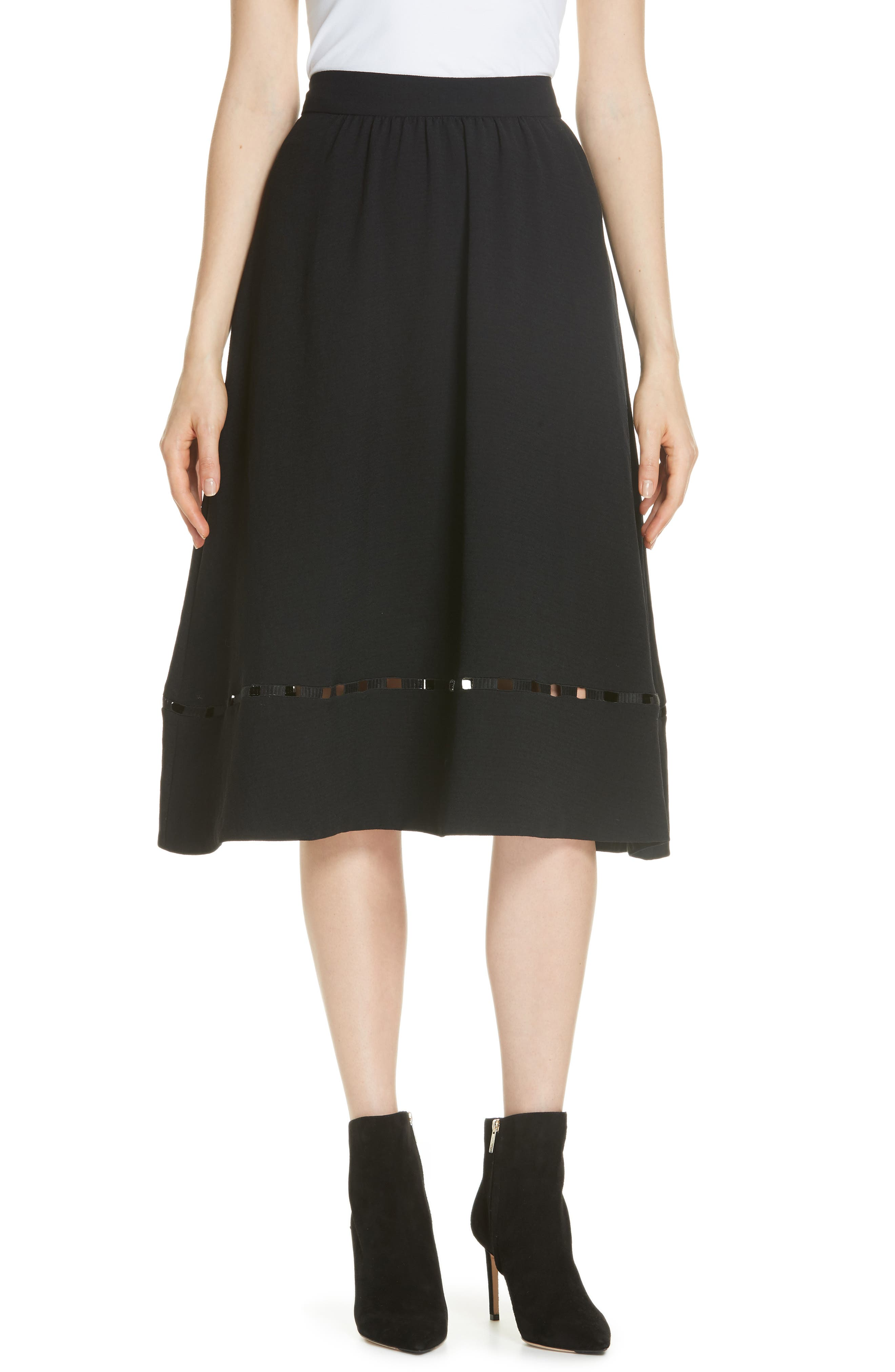 Carmen A-Line Skirt,                             Main thumbnail 1, color,                             NOIR