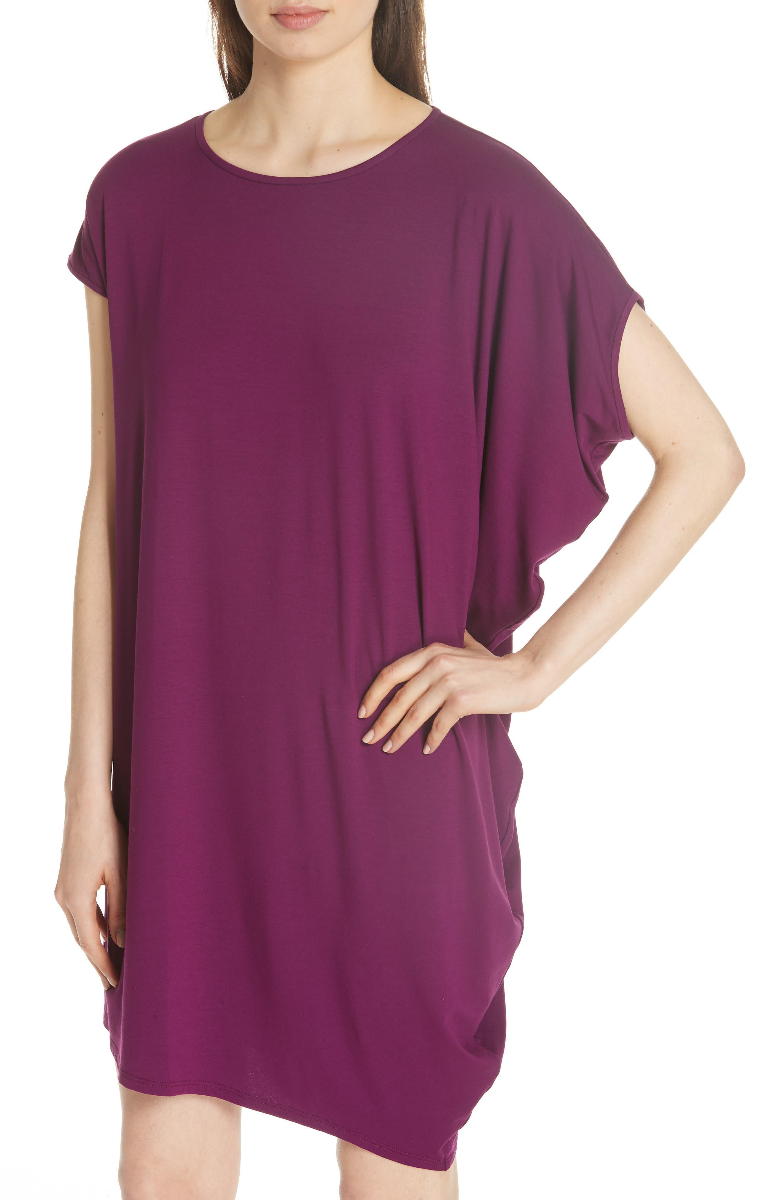 Asymmetrical Jersey Shift Dress,                             Alternate thumbnail 15, color,