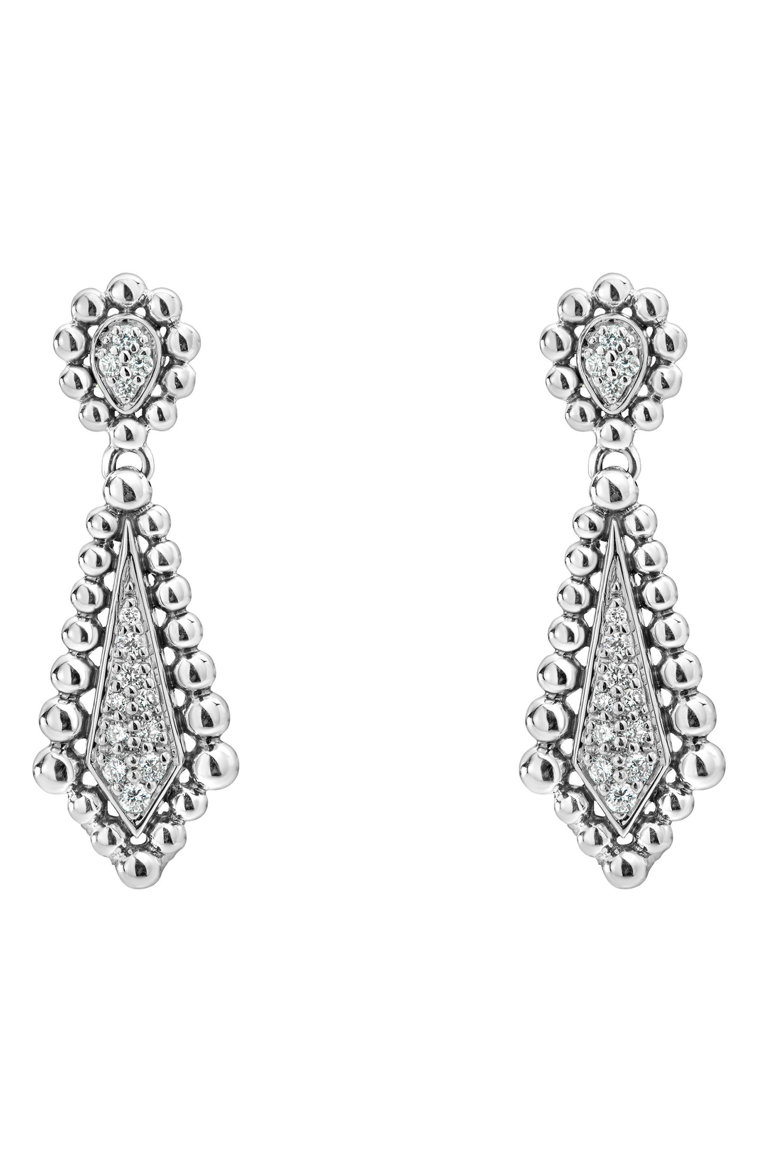 Caviar Spark Diamond Earrings,                             Main thumbnail 1, color,                             DIAMOND
