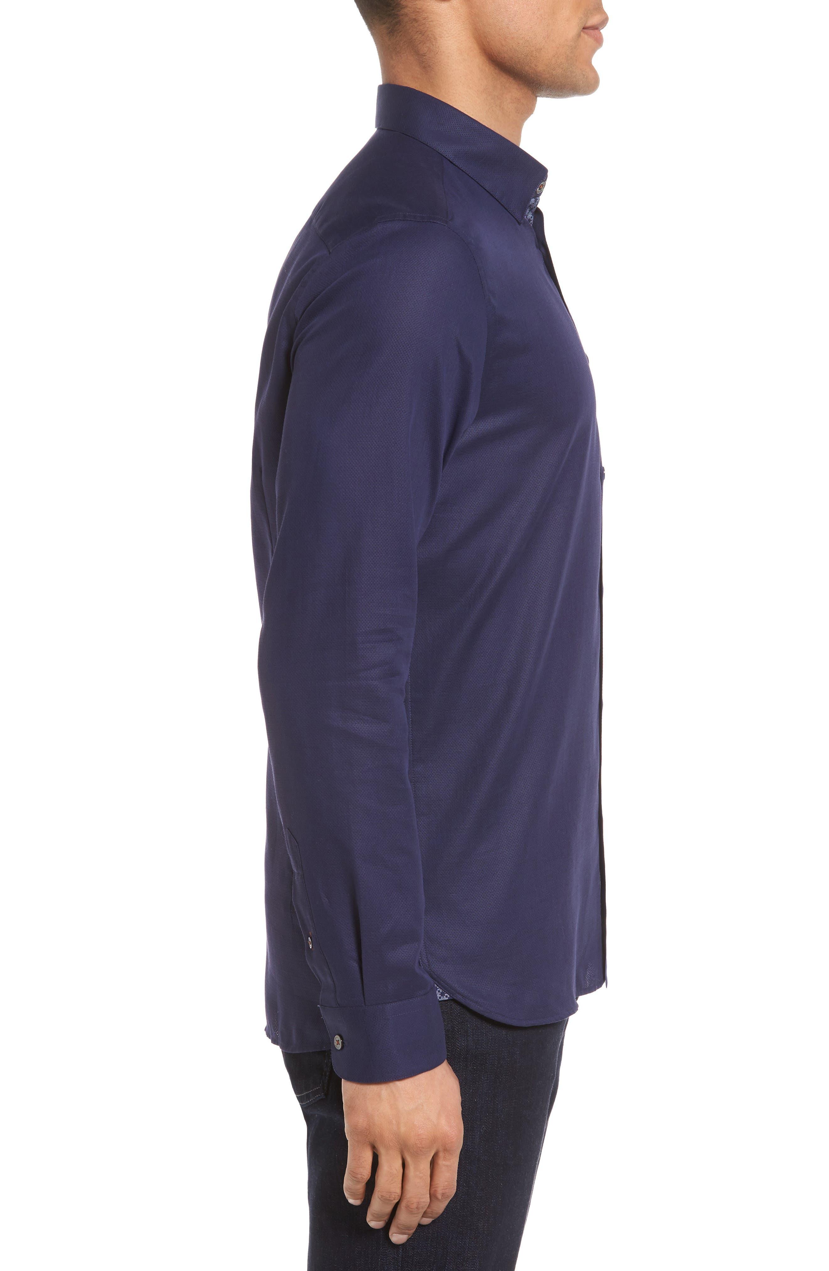 Nordlux Modern Slim Fit Stretch Cotton Sport Shirt,                             Alternate thumbnail 13, color,