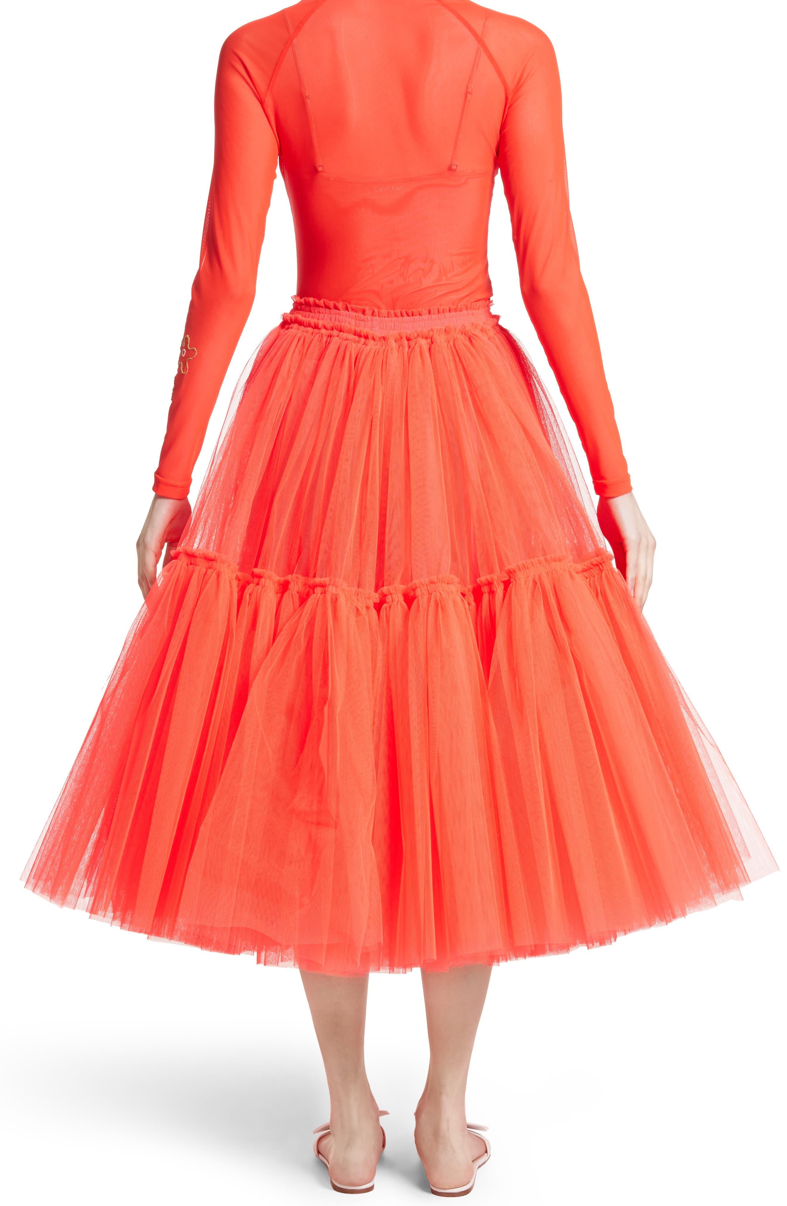 Gathered Tulle Skirt,                             Alternate thumbnail 4, color,