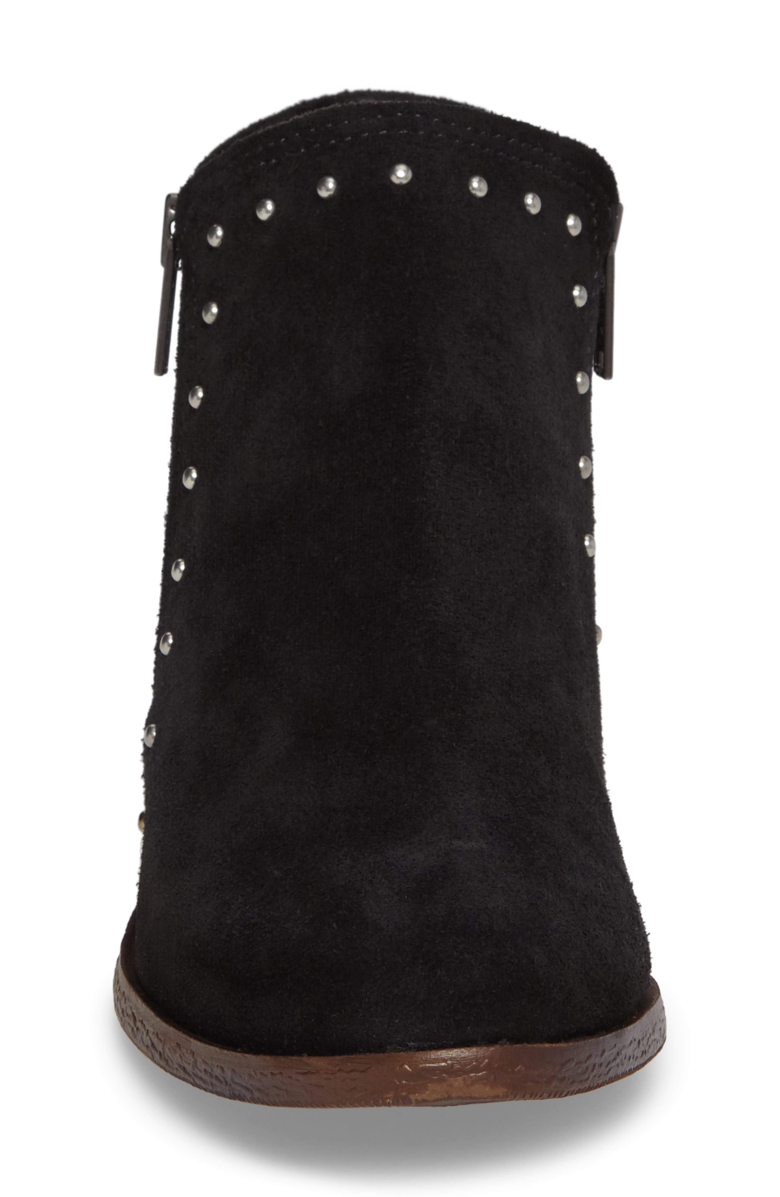 Brie Studded Bootie,                             Alternate thumbnail 4, color,                             BLACK