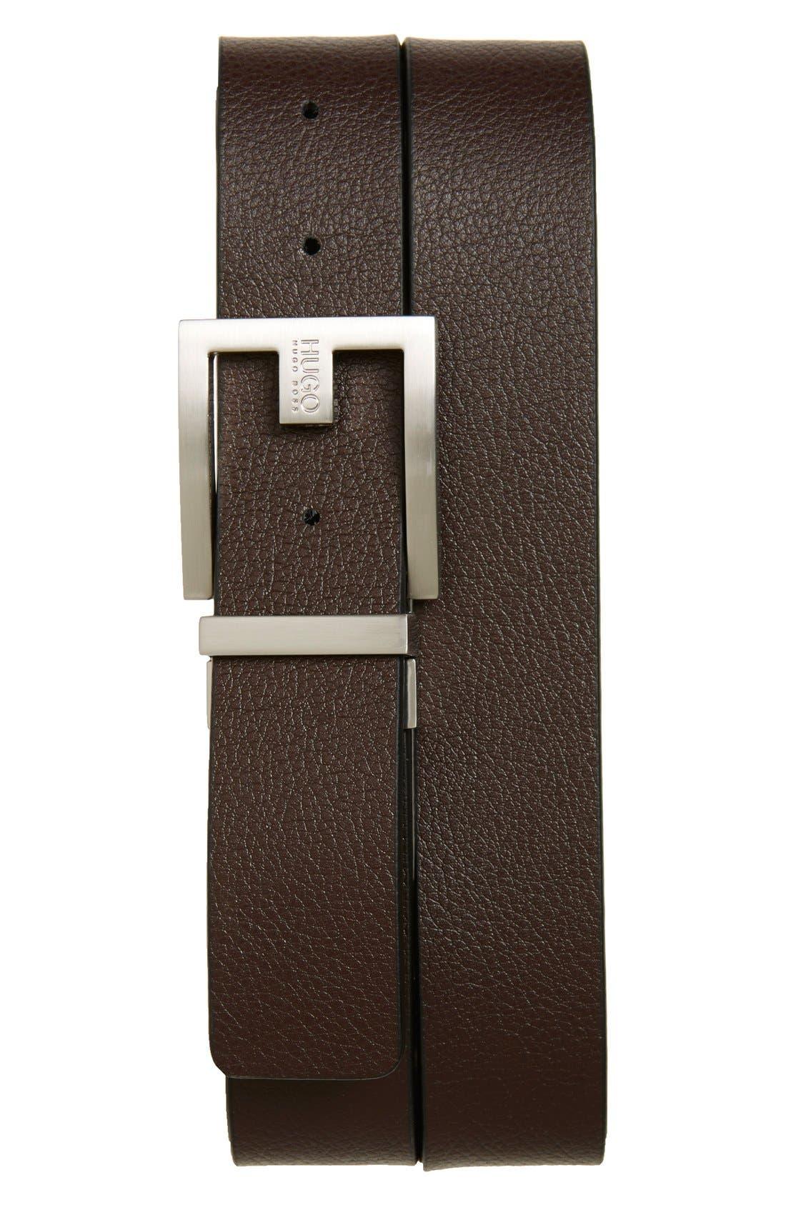 Fleming Reversible Leather Belt,                             Alternate thumbnail 3, color,