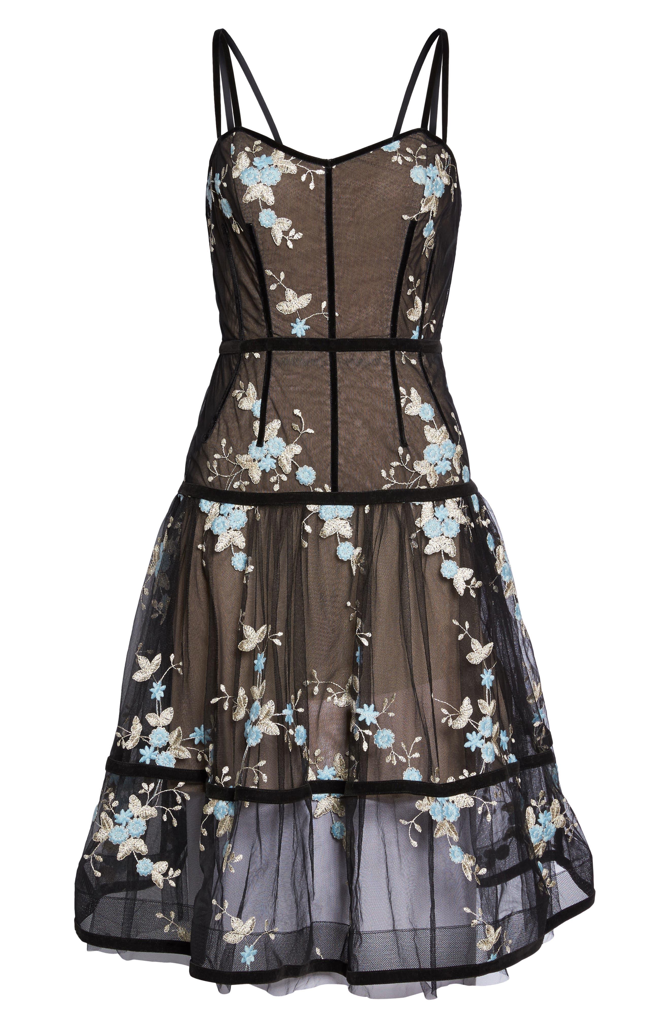 Marietta Fit & Flare Dress,                             Alternate thumbnail 6, color,
