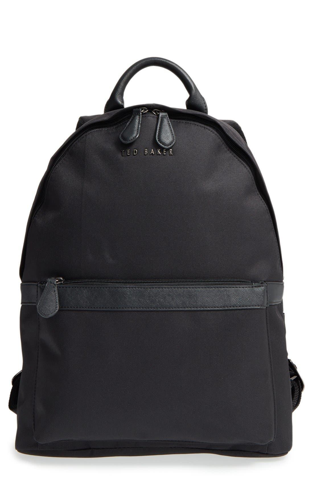 'Seata' Nylon Backpack, Main, color, 001