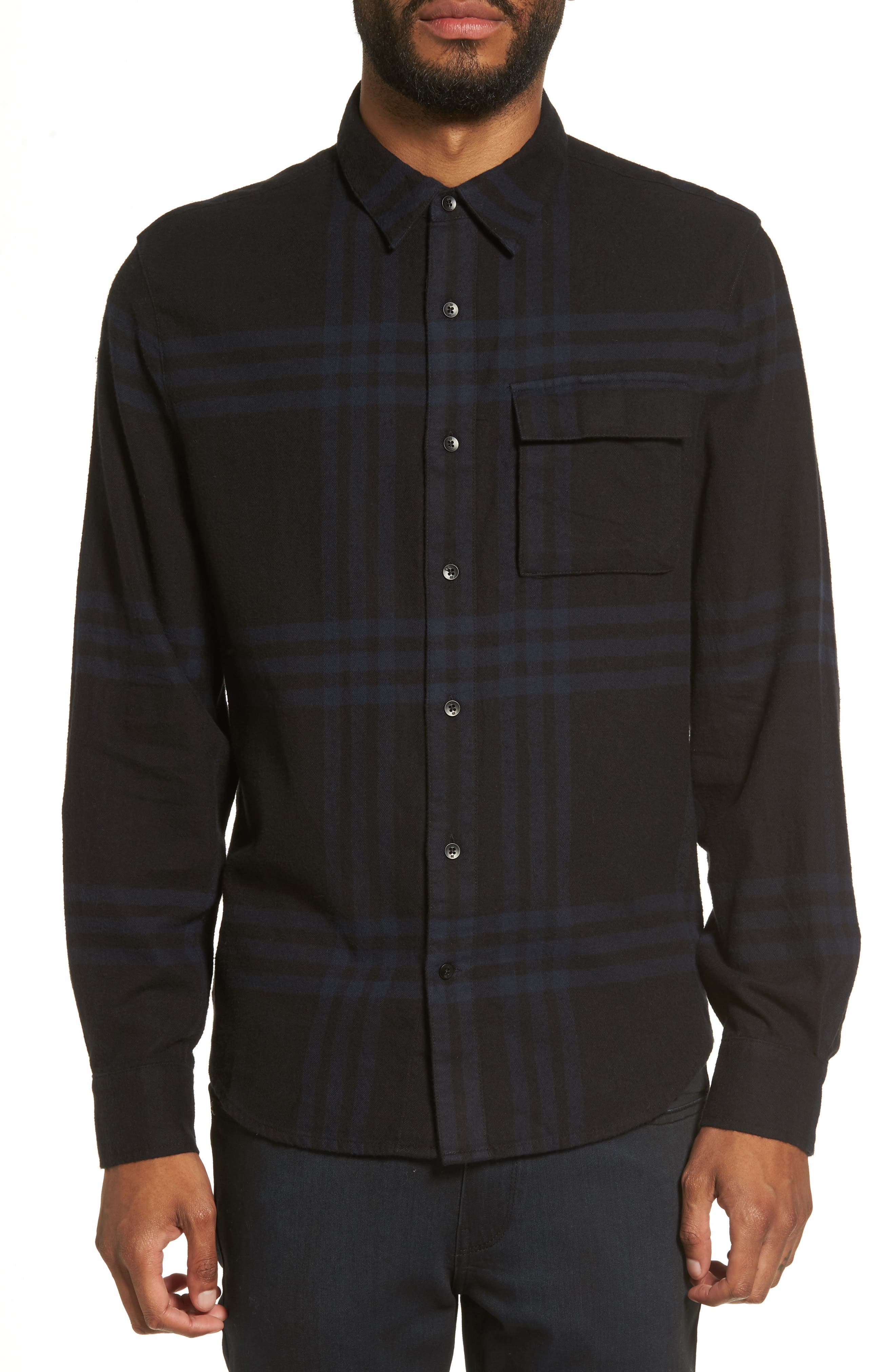 Bellowed Plaid Classic Shirt,                             Main thumbnail 2, color,