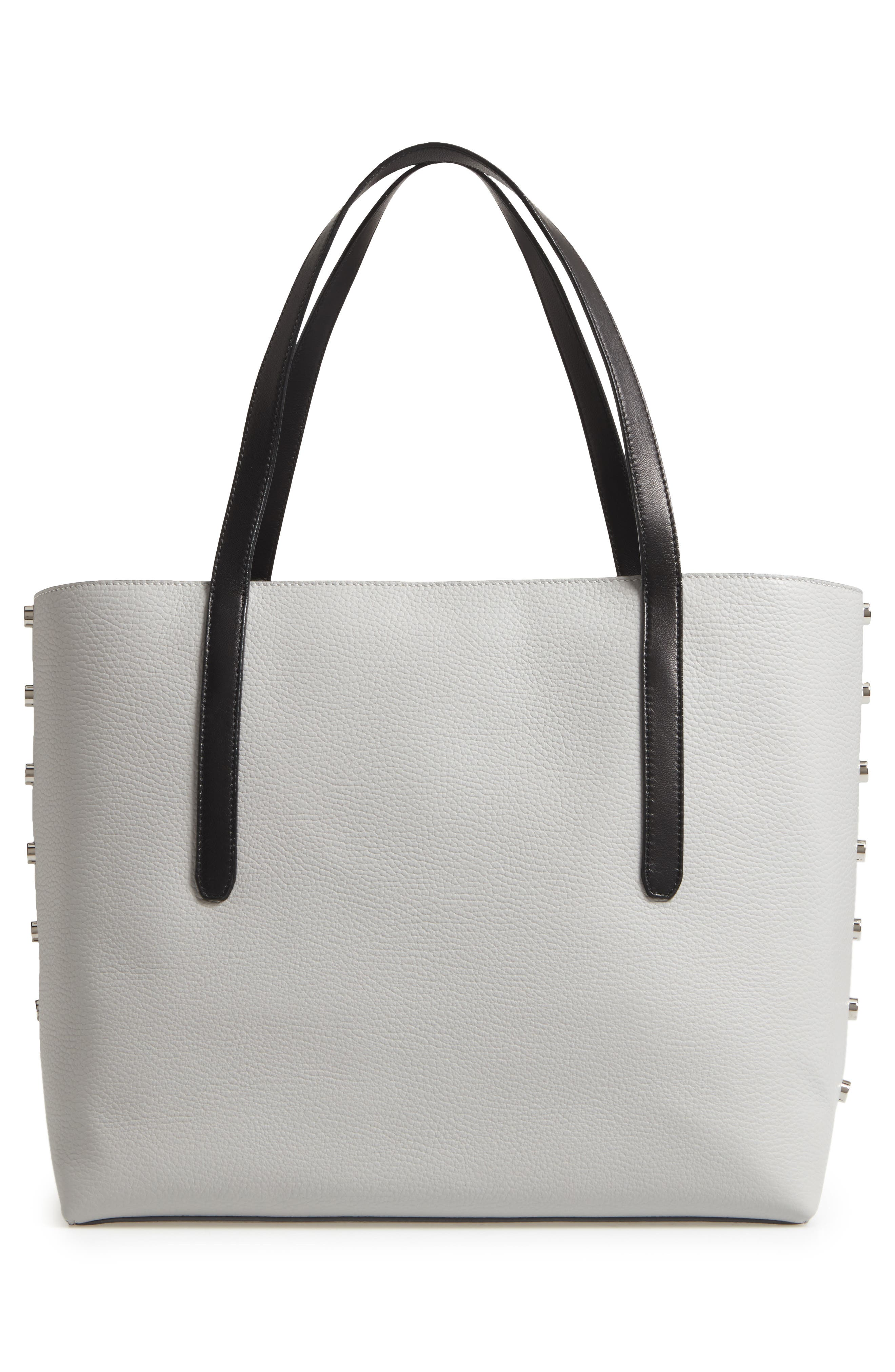Twist East West Leather Tote,                             Alternate thumbnail 3, color,                             040