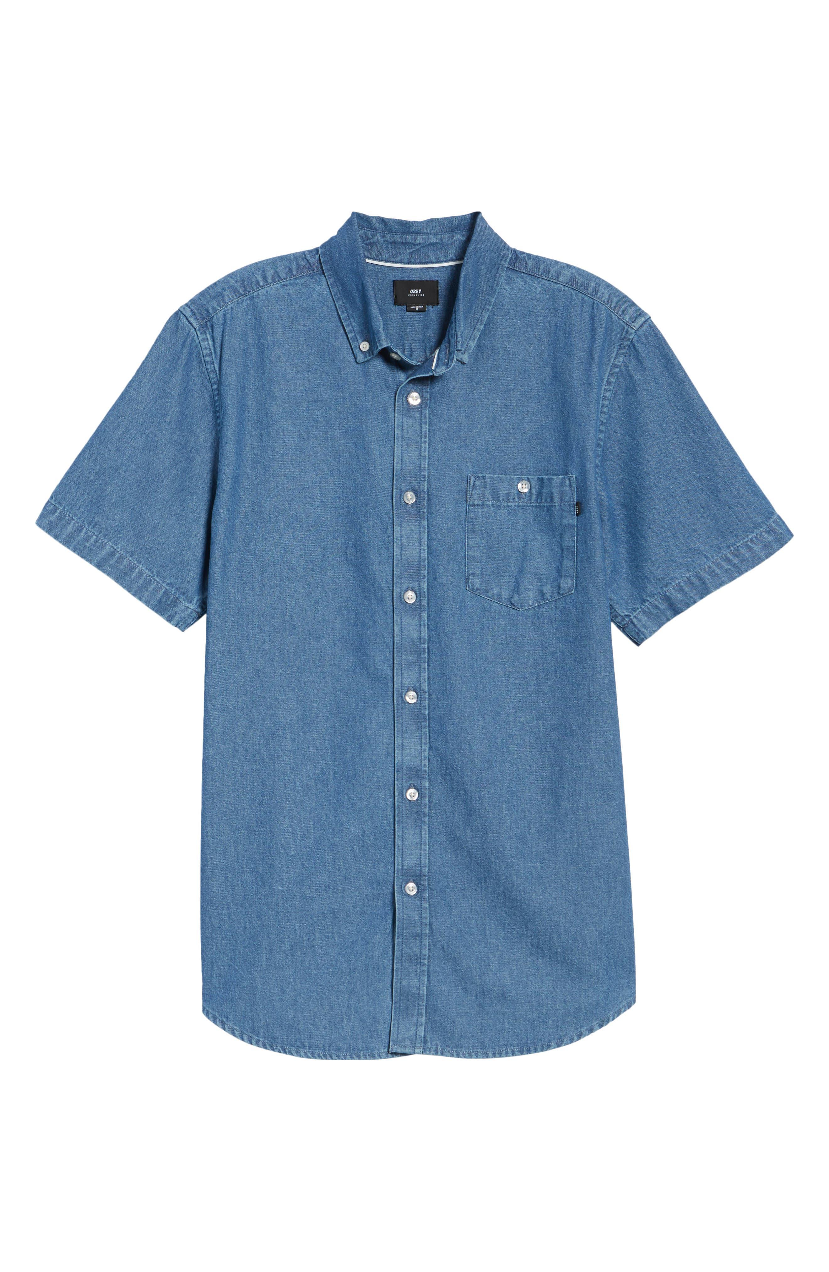 Kebble Denim Shirt,                             Alternate thumbnail 6, color,                             450