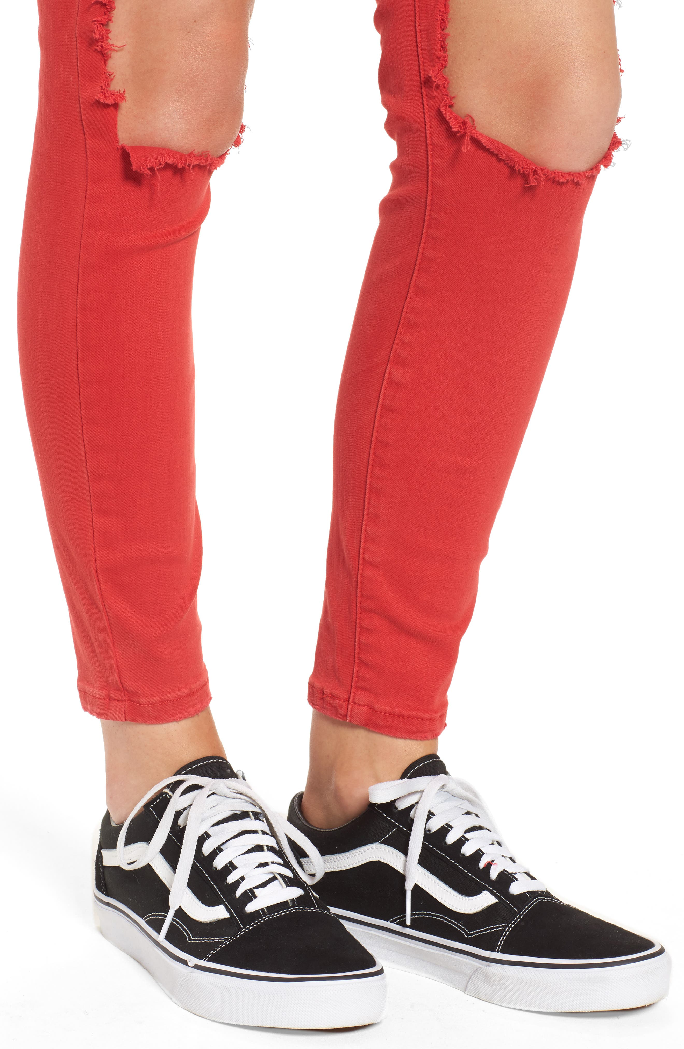 Cry Baby Ripped Skinny Jeans,                             Alternate thumbnail 4, color,