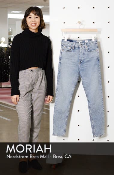 Comfort Stretch High Waist Ankle Crop Jeans, sales video thumbnail