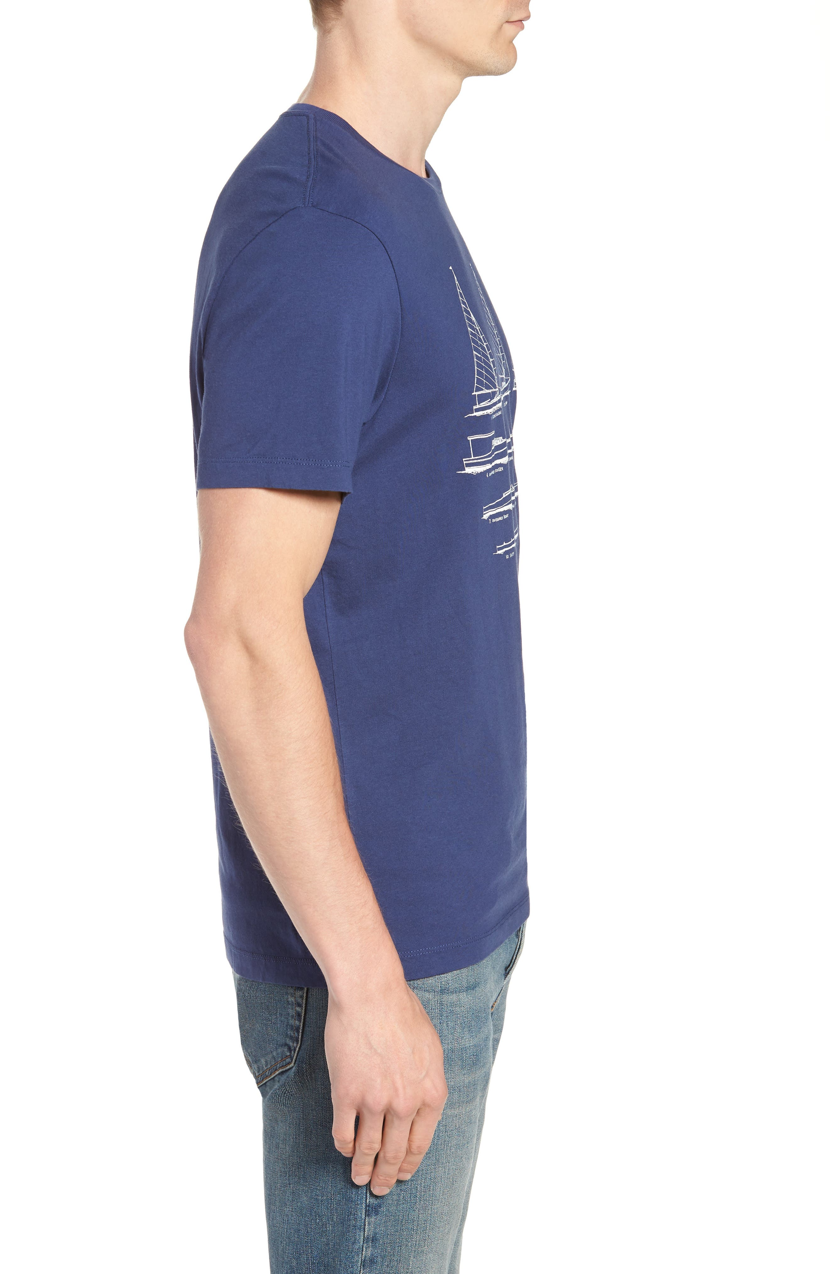 Mercantile Sailboat Graphic T-Shirt,                             Alternate thumbnail 3, color,                             400