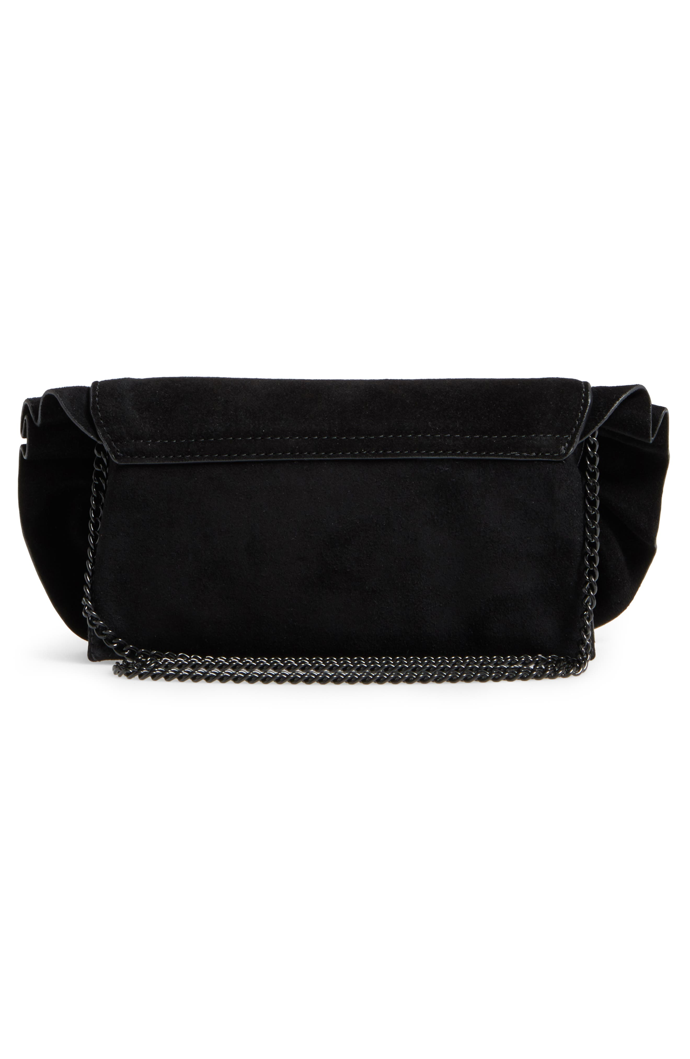 Ruffle Clutch,                             Alternate thumbnail 3, color,                             001