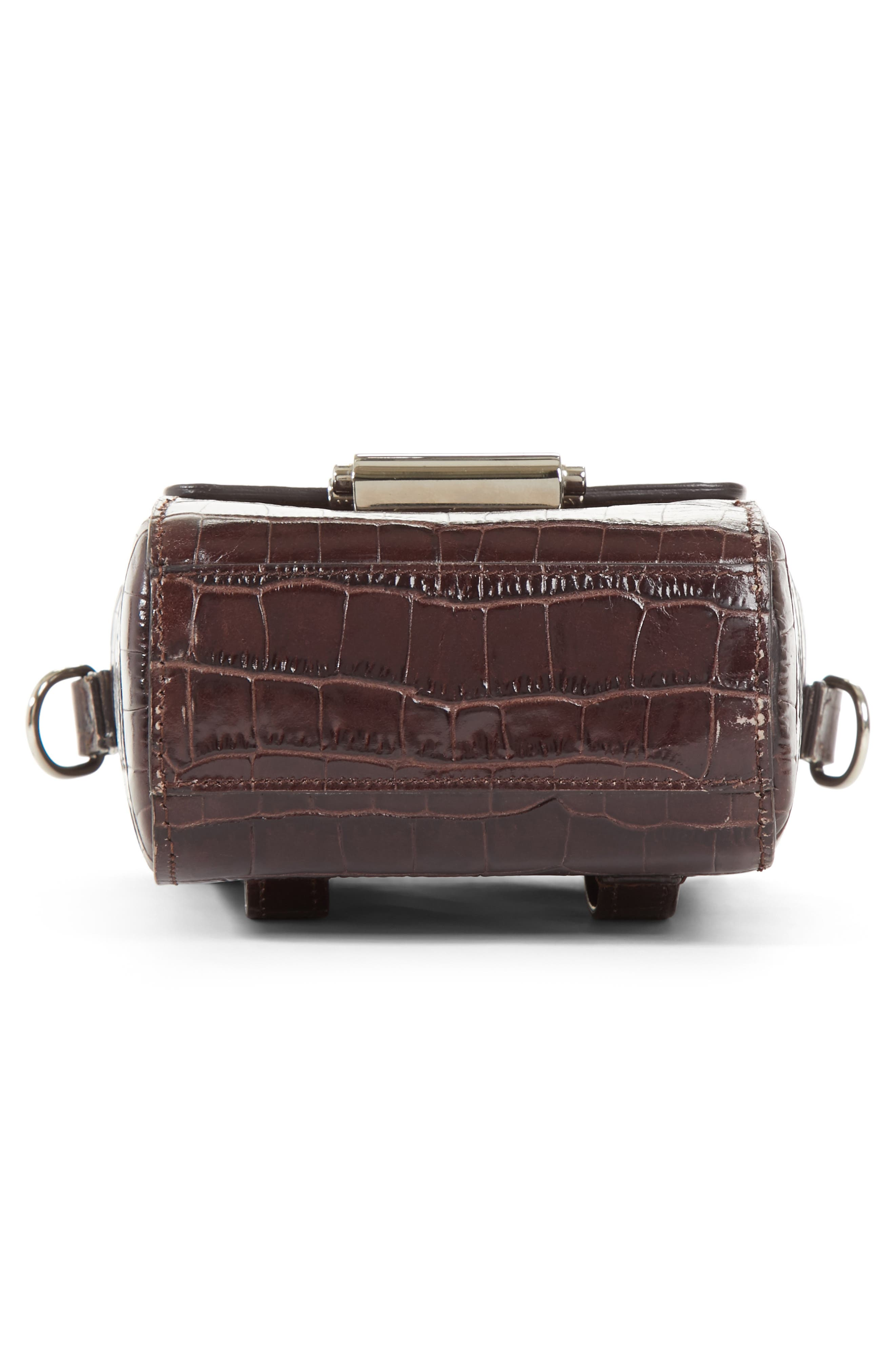 Small Croc Embossed Leather Camera Bag,                             Alternate thumbnail 6, color,                             200