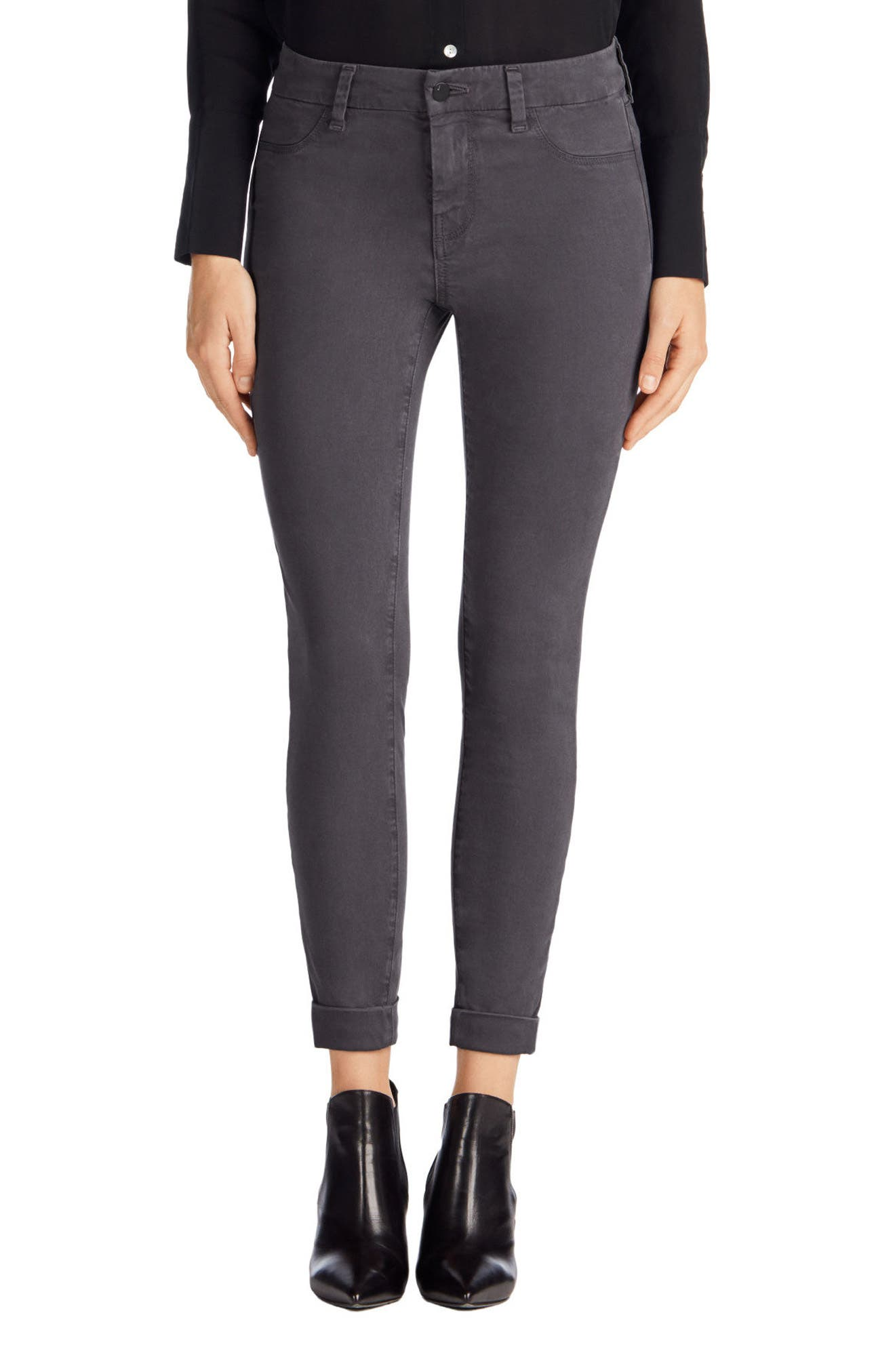 'Anja' Cuffed Crop Skinny Jeans,                             Alternate thumbnail 12, color,