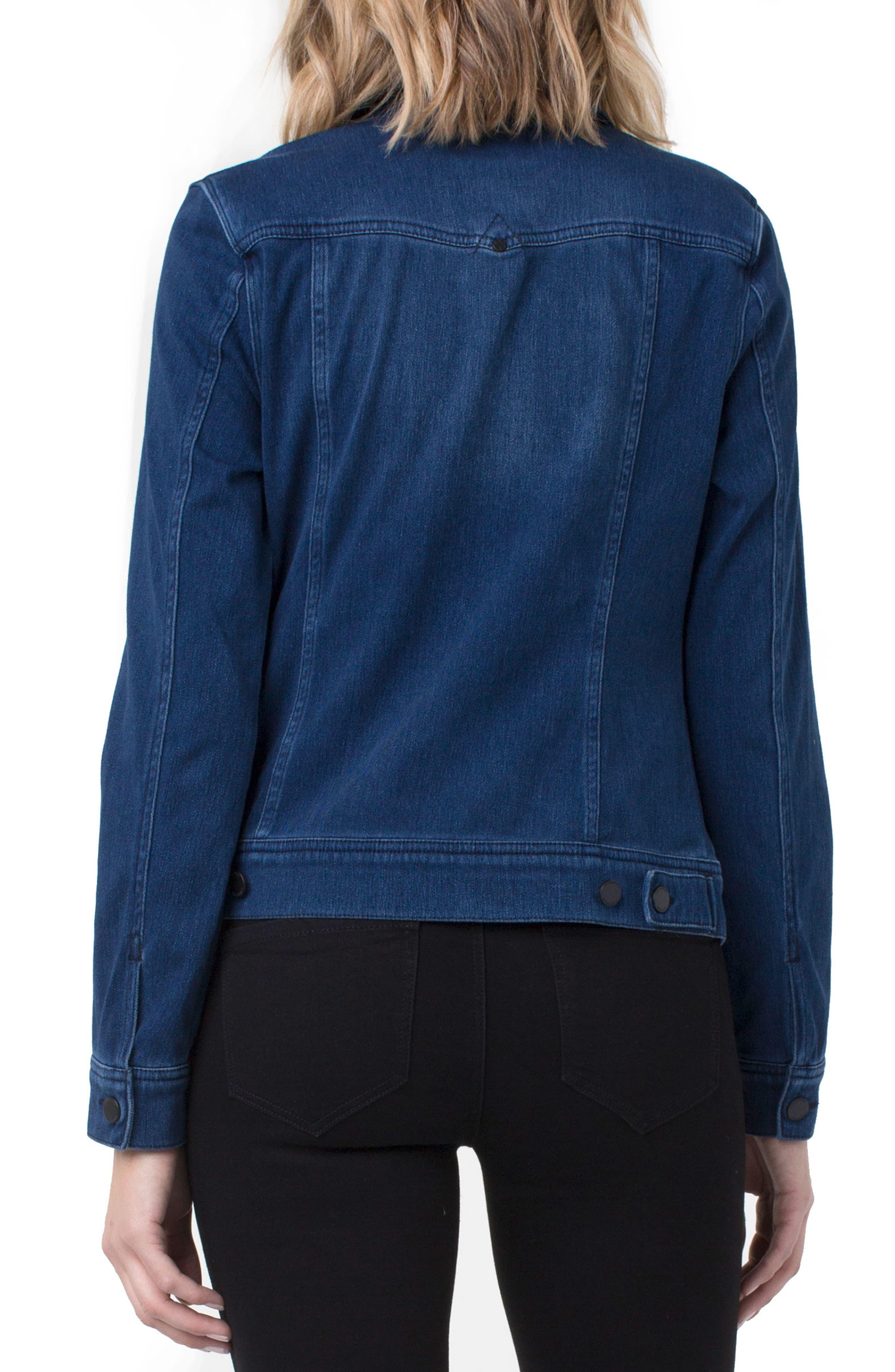 Knit Denim Jacket,                             Alternate thumbnail 2, color,                             480