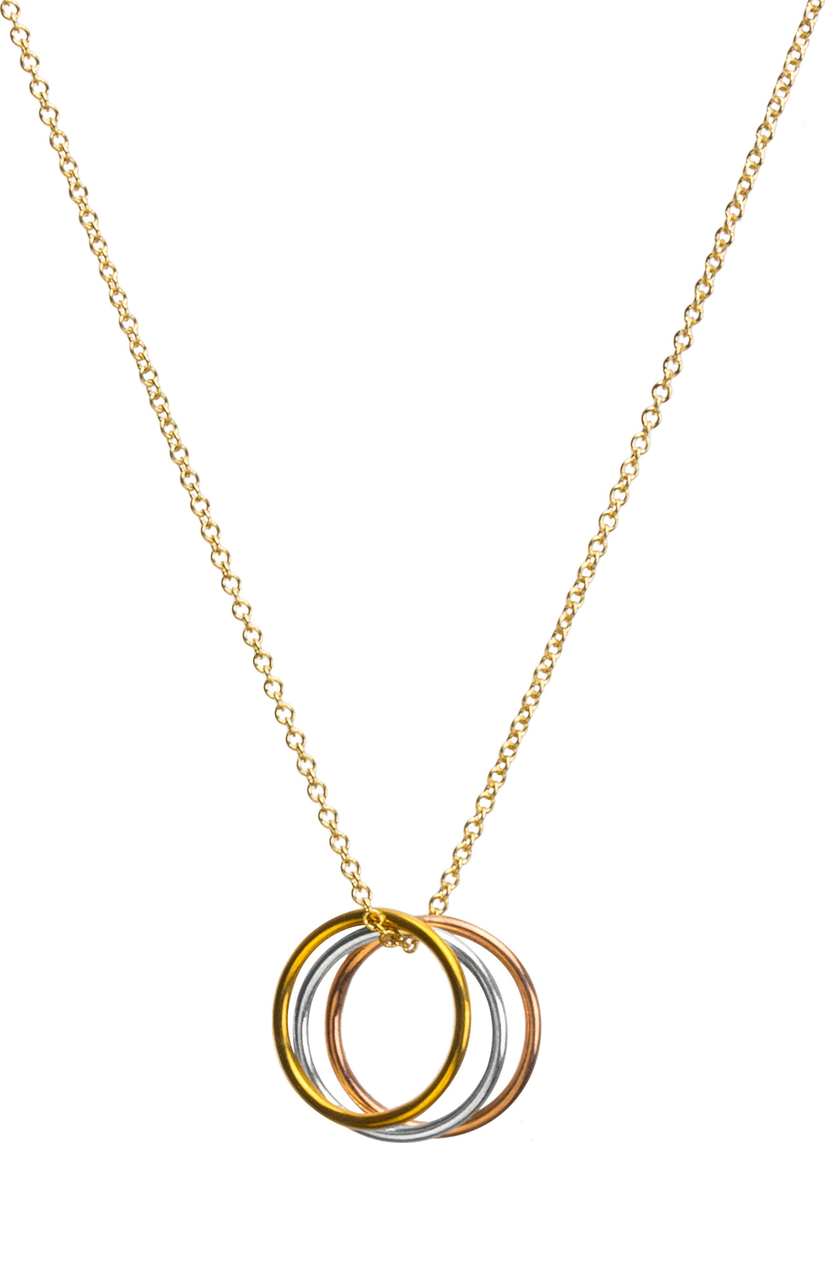 Triple Karma Pendant Necklace,                         Main,                         color, 711