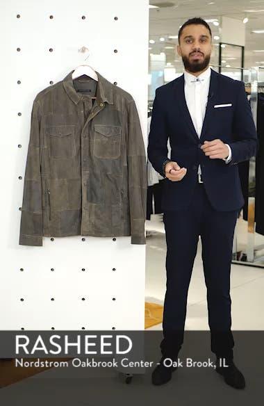 Patchwork Goat Leather Jacket, sales video thumbnail