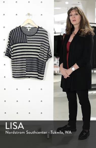 Mixed Stripe Organic Linen Top, sales video thumbnail