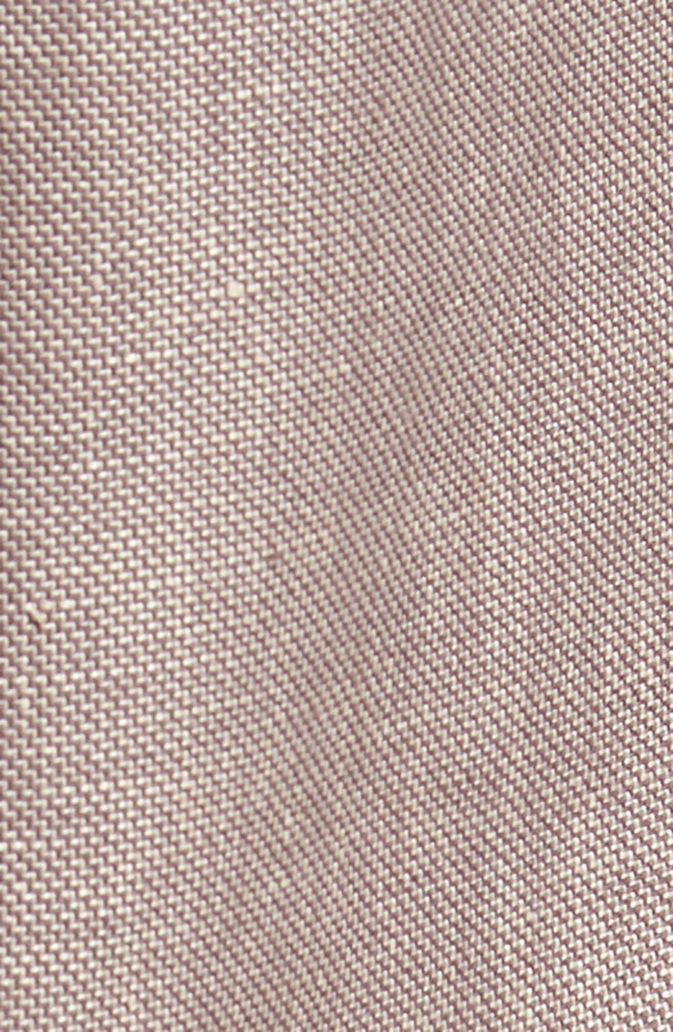 Flat Front Solid Stretch Cotton & Linen Pants,                             Alternate thumbnail 10, color,