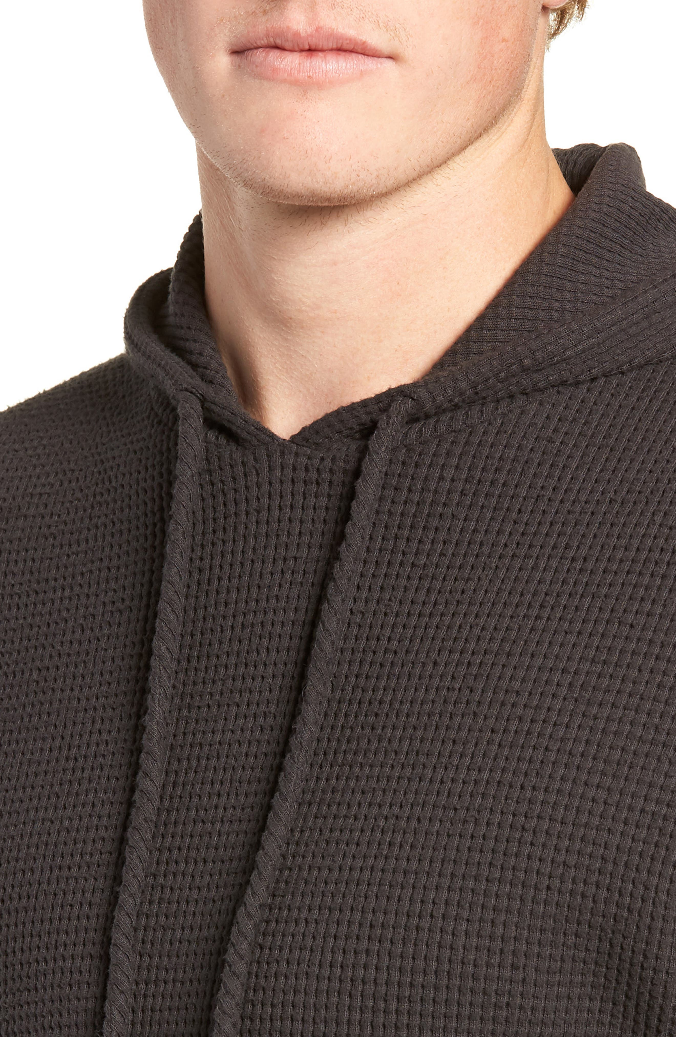 Thermal Knit Pullover Hoodie,                             Alternate thumbnail 4, color,                             020