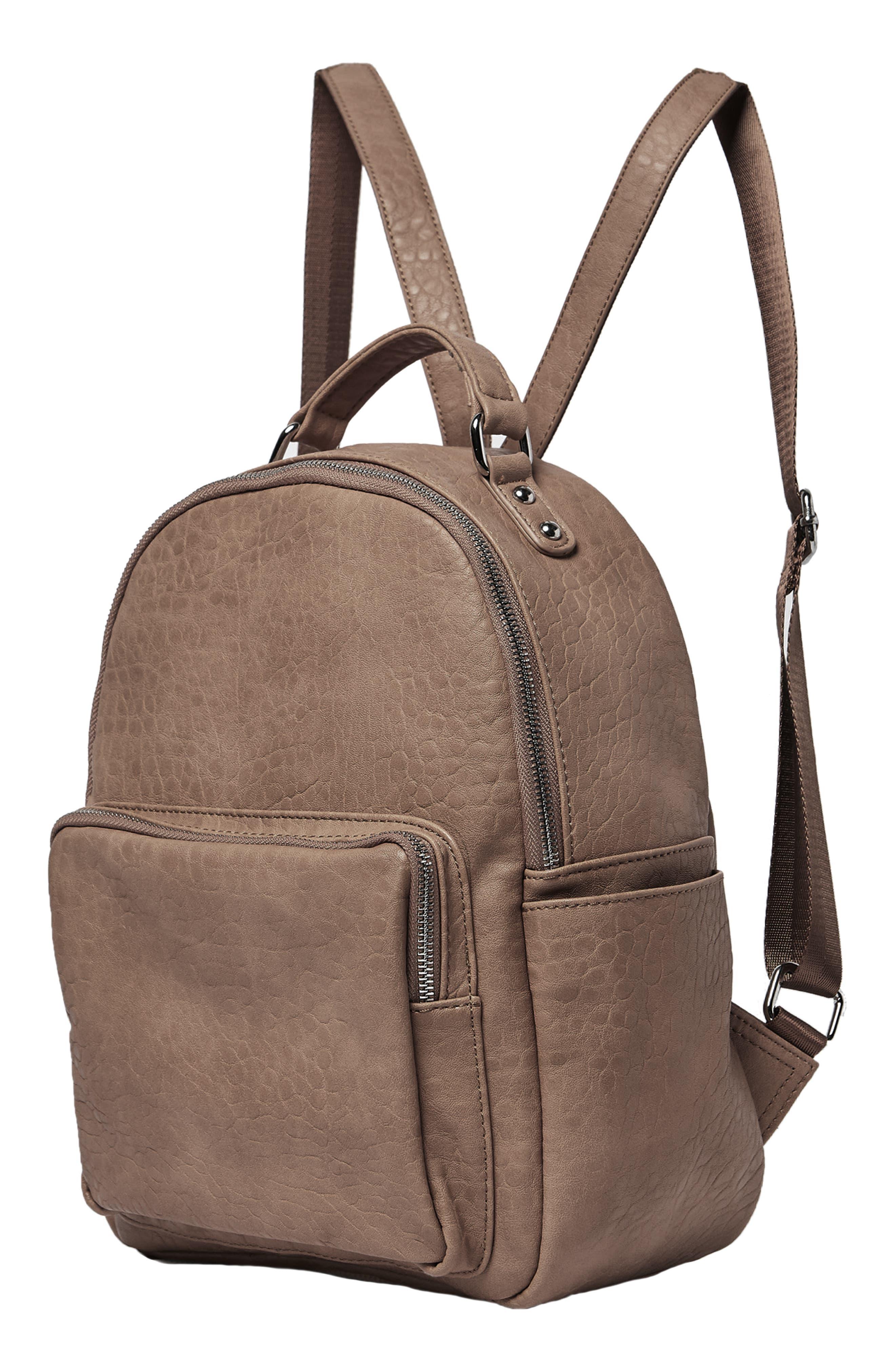 South Bag Vegan Leather Backpack,                             Alternate thumbnail 4, color,                             MOCHA
