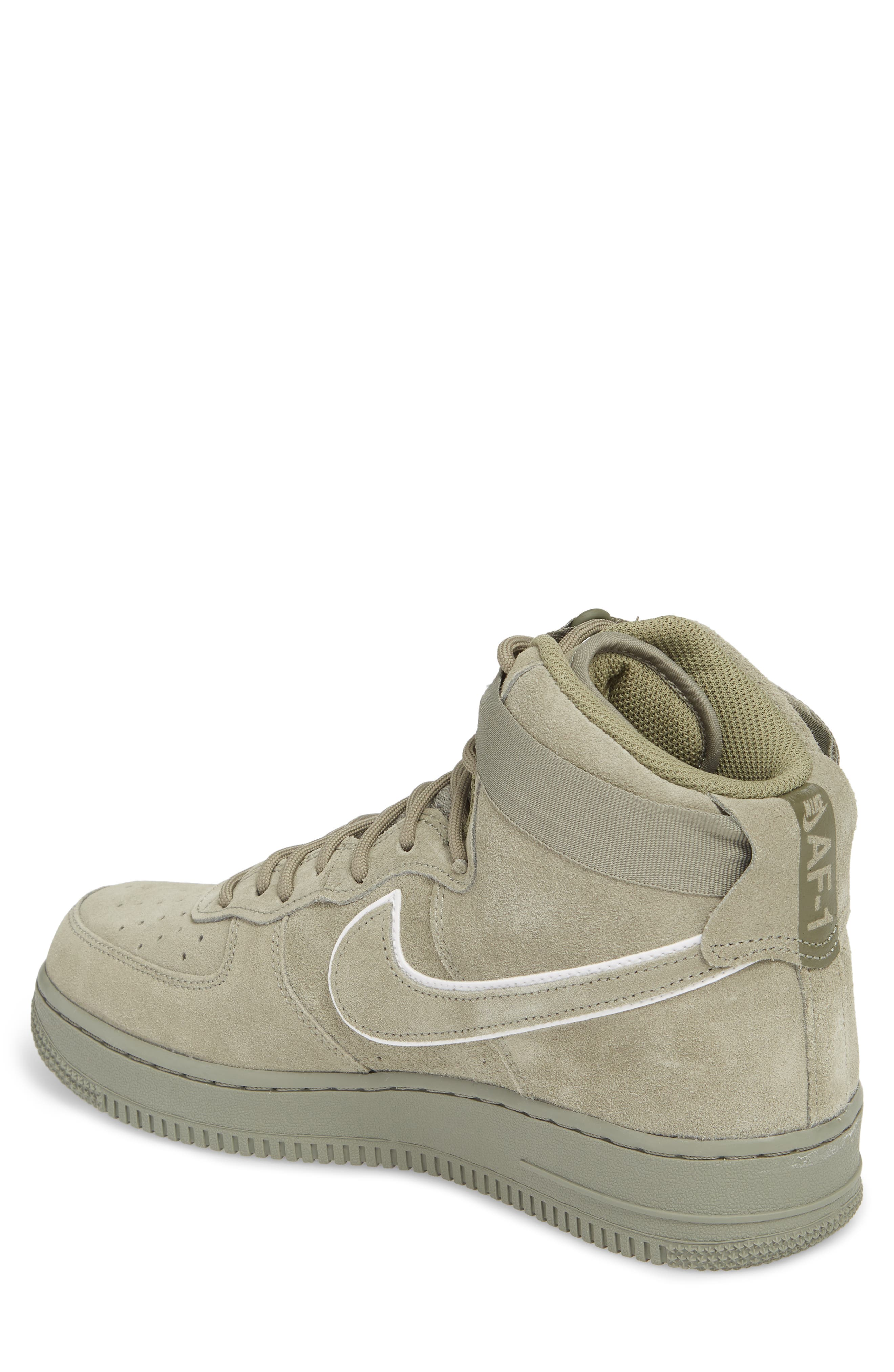 Air Force 1 High '07 LV8 Suede Sneaker,                             Alternate thumbnail 4, color,