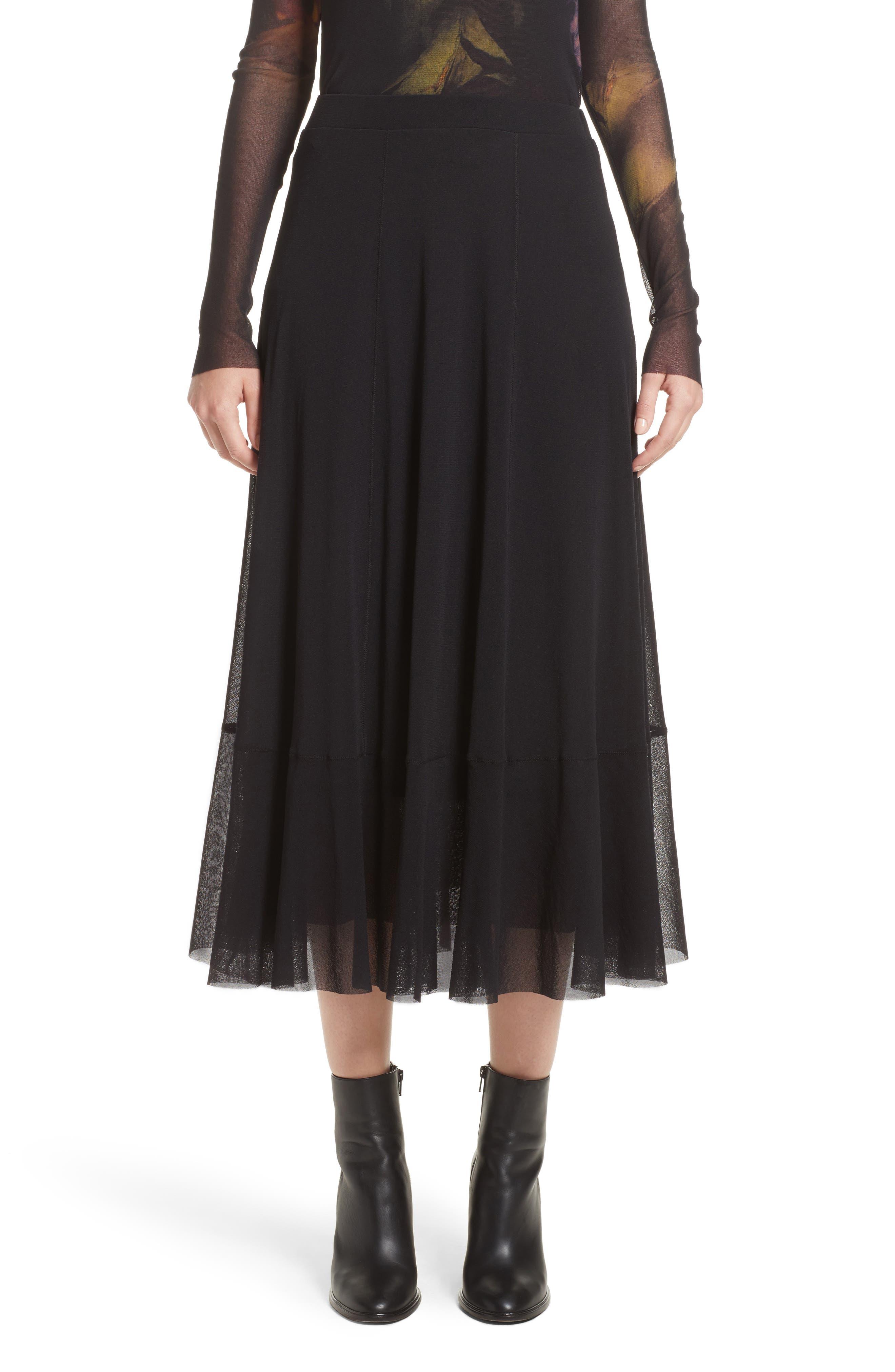 Tulle Midi Skirt,                         Main,                         color, 001