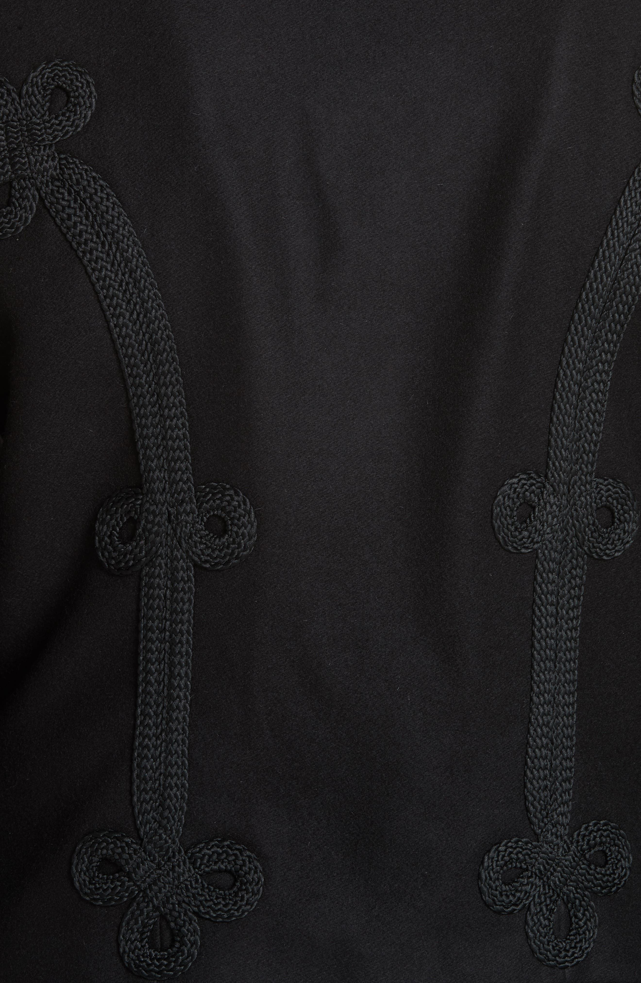 Soutache Trim Crop Jacket,                             Alternate thumbnail 6, color,                             POLO BLACK