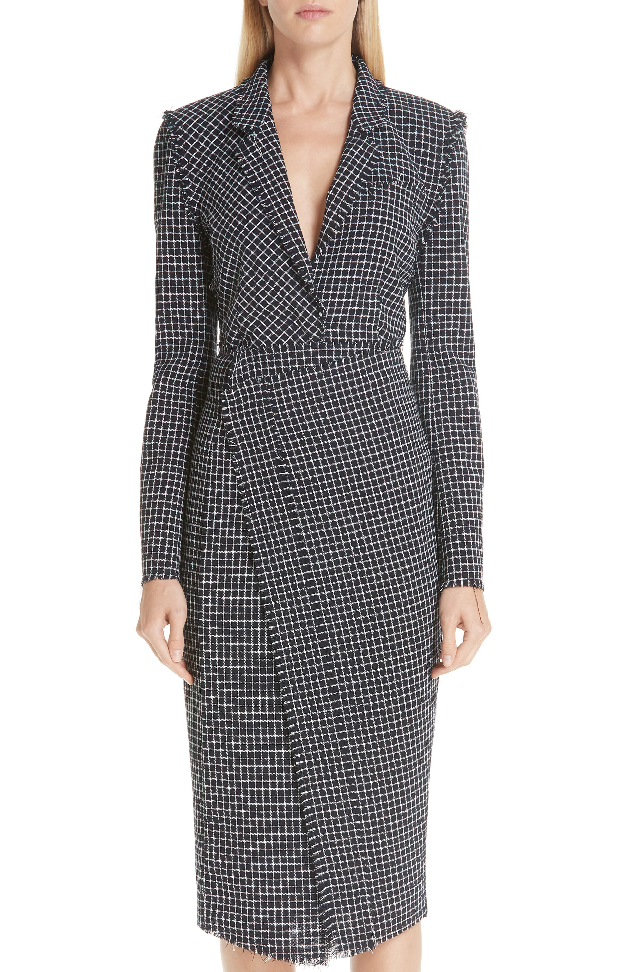 JASON WU COLLECTION,                             Wool Check Skirt,                             Alternate thumbnail 7, color,                             001