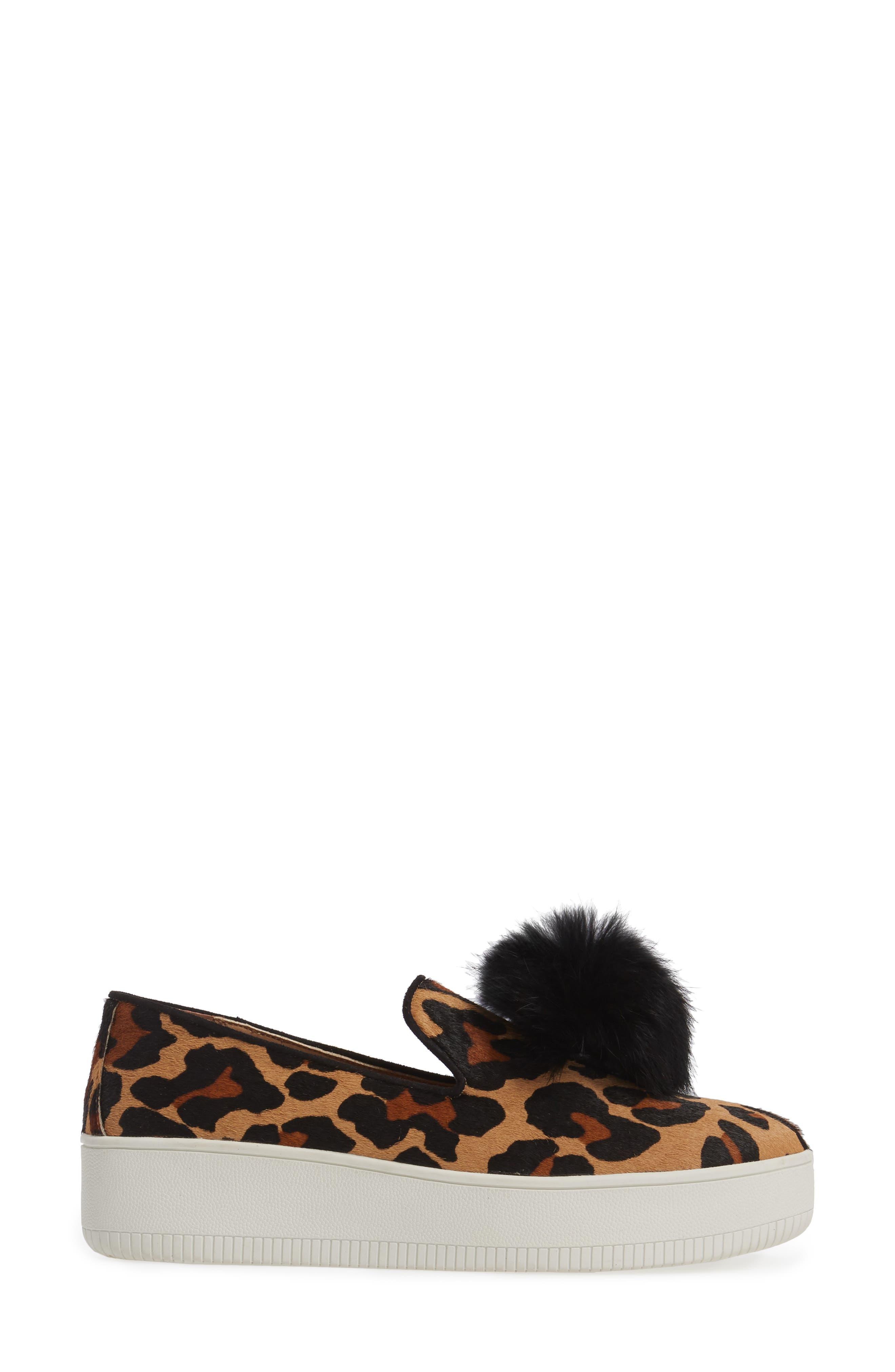 Sammy II Genuine Calf Hair Platform Sneaker with Genuine Rabbit Fur Trim,                             Alternate thumbnail 3, color,                             215