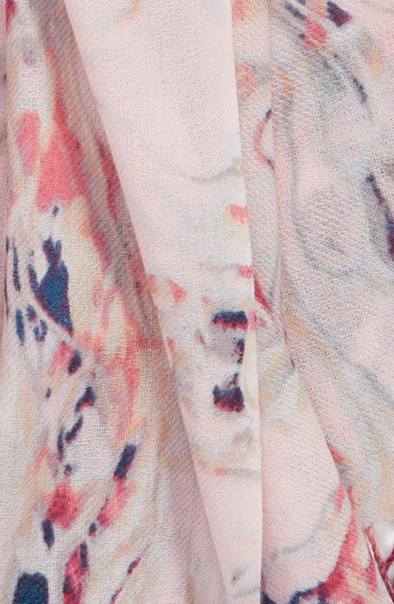 Marble Tissue Wool & Cashmere Scarf,                             Alternate thumbnail 16, color,