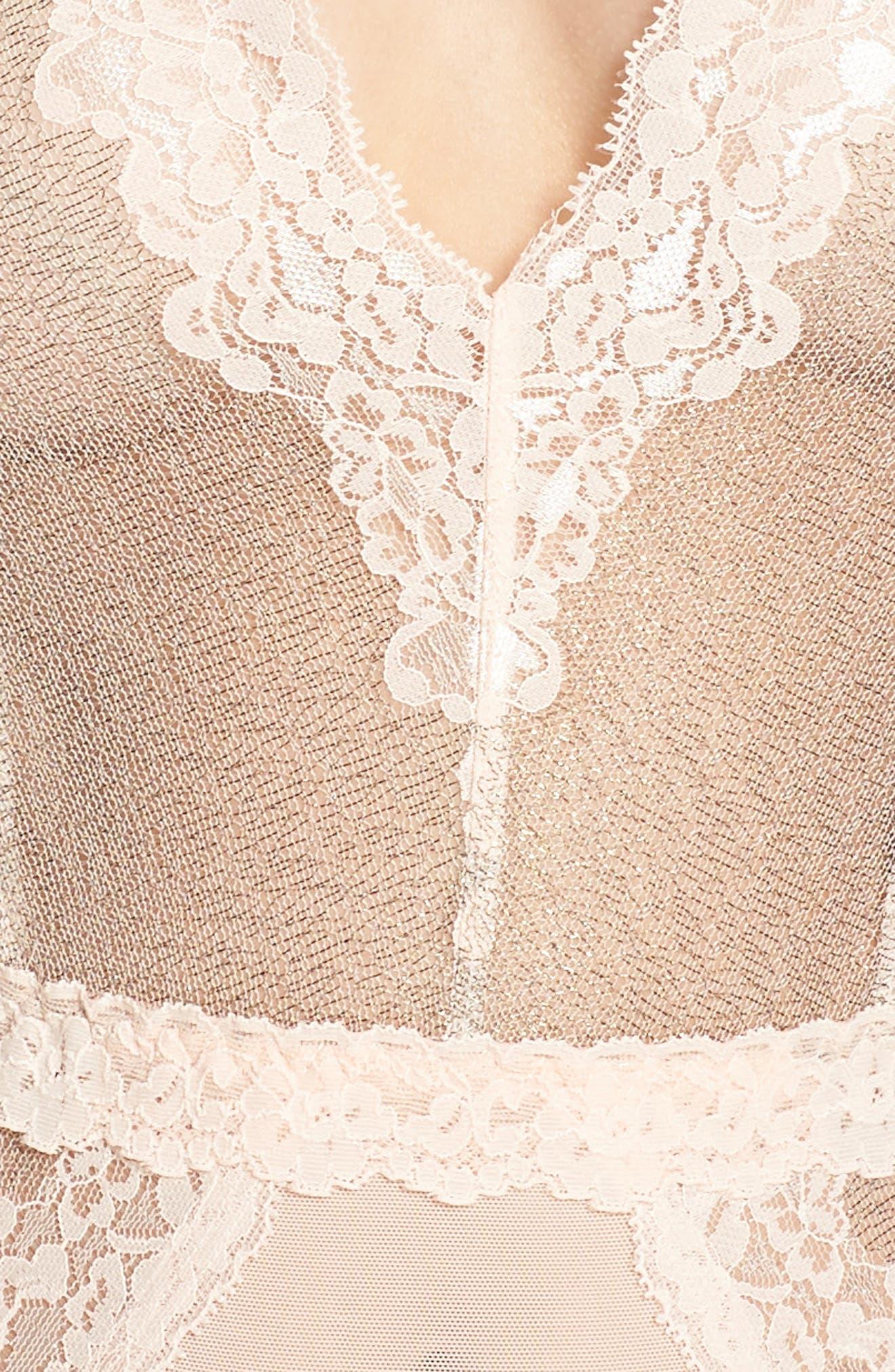 HANKY PANKY,                             Creme de la Creme Bodysuit,                             Alternate thumbnail 4, color,                             VANILLA
