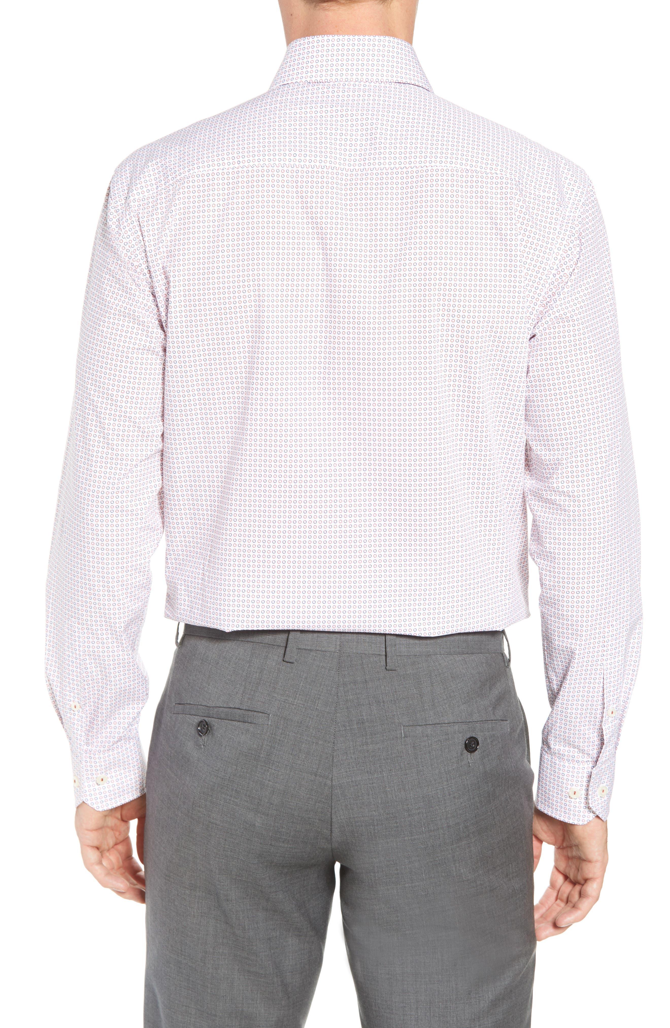 Trim Fit Dot Dress Shirt,                             Alternate thumbnail 3, color,                             602