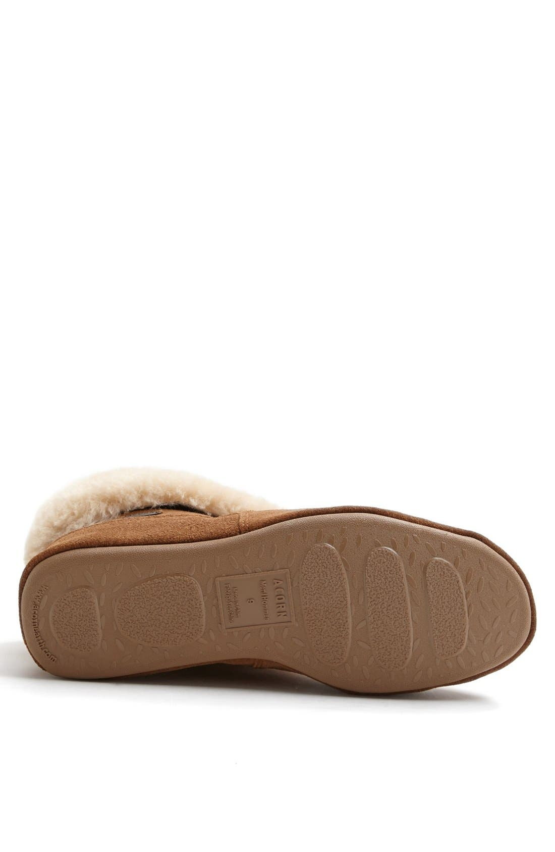 Genuine Sheepskin Slipper,                             Alternate thumbnail 2, color,                             WALNUT