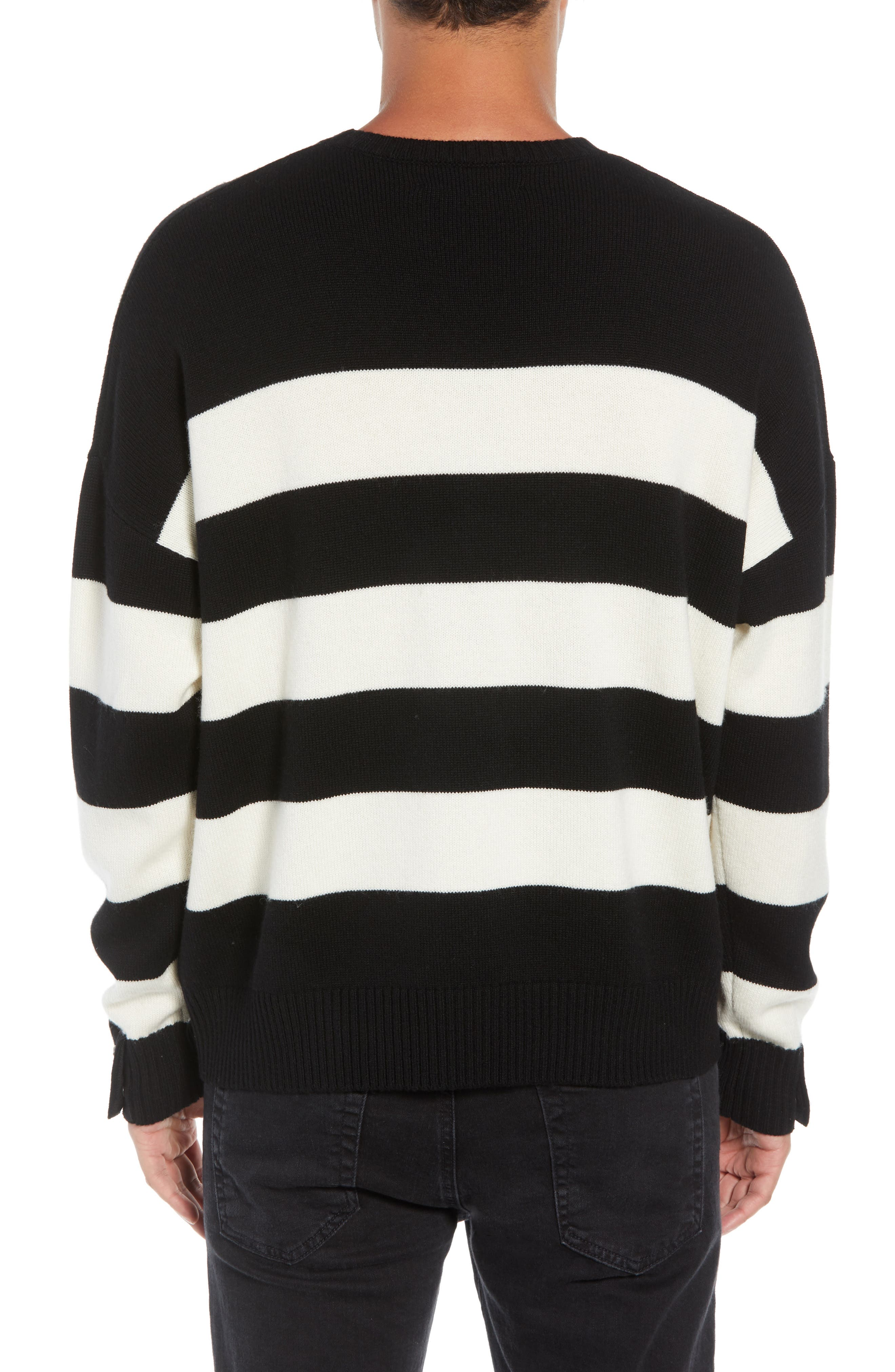 THE KOOPLES,                             Classic Fit Striped Sweater,                             Alternate thumbnail 2, color,                             001