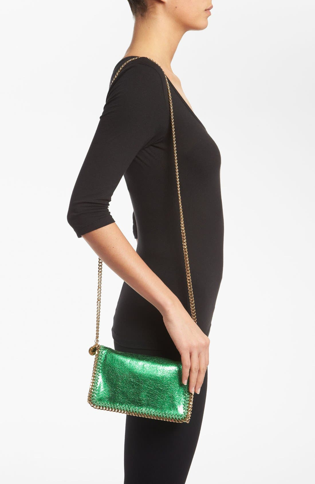 'Falabella - Cracle' Crossbody Bag,                             Alternate thumbnail 4, color,                             320