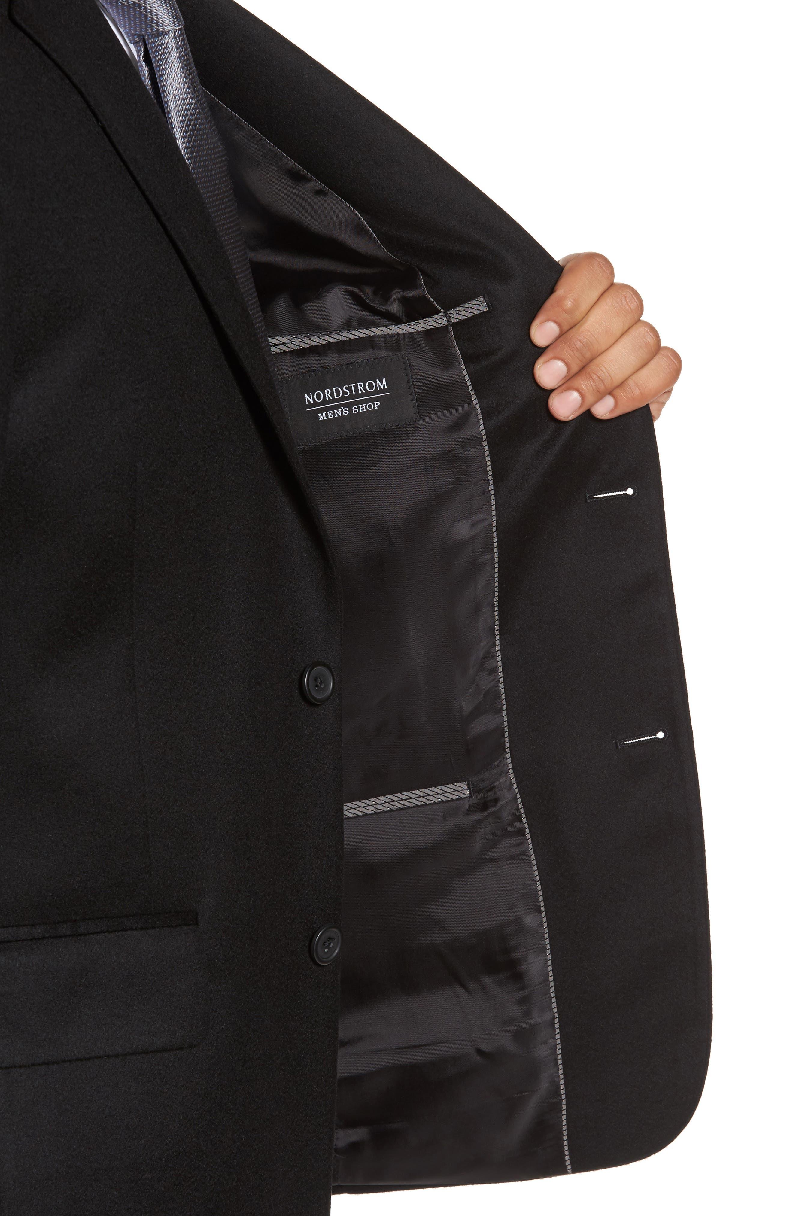 Classic Fit Cashmere Blazer,                             Alternate thumbnail 4, color,                             001