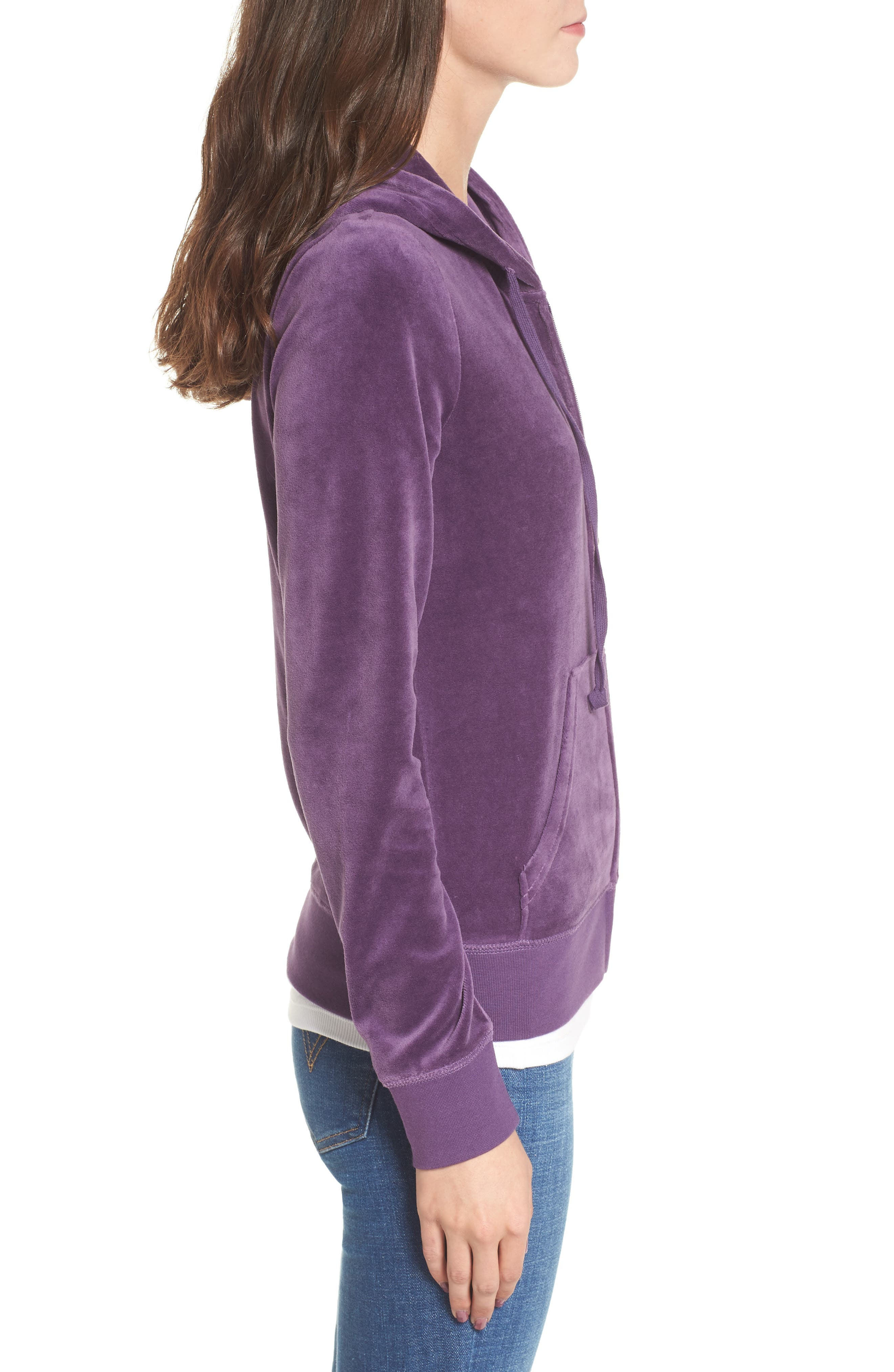 Robertson Velour Hoodie,                             Alternate thumbnail 3, color,                             511